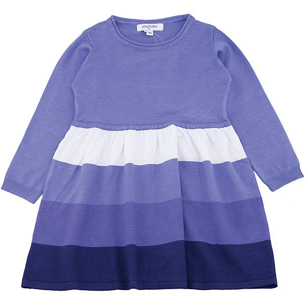 Платье PlayToday для девочкиОсенне-зимние платья и сарафаны<br>Характеристики товара:<br><br>• цвет: сиреневый<br>• состав ткани: 50% вискоза, 50% нейлон<br>• сезон: демисезон<br>• длинные рукава<br>• страна бренда: Германия<br>• страна изготовитель: Китай<br><br>Стильное платье для детей сделано из дышащего материала. Трикотажное платье для девочки - удобная и модная вещь. Детское платье дополнено манжетами. Детская одежда и обувь от PlayToday - это стильные вещи по доступным ценам. <br><br>Платье PlayToday (ПлэйТудэй) для девочки можно купить в нашем интернет-магазине.<br><br>Ширина мм: 236<br>Глубина мм: 16<br>Высота мм: 184<br>Вес г: 177<br>Цвет: белый<br>Возраст от месяцев: 24<br>Возраст до месяцев: 36<br>Пол: Женский<br>Возраст: Детский<br>Размер: 98,128,122,116,110,104<br>SKU: 7115372