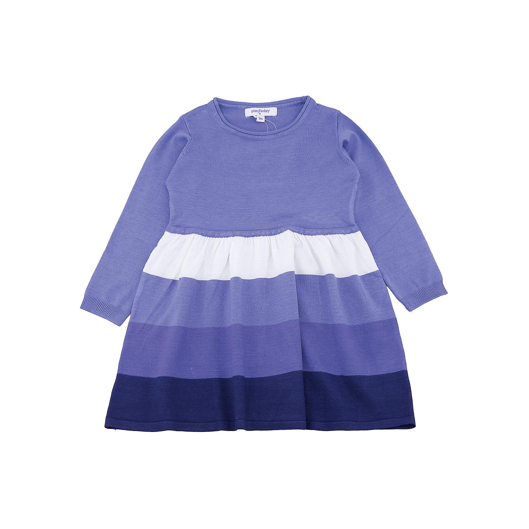 Платье PlayToday для девочкиОсенне-зимние платья и сарафаны<br>Платье PlayToday для девочки<br>Платье, отрезное по талии,  с длинным рукавом и округлым вырезом у горловины дополнит повседневный гардероб ребенка. Манжеты на мягких резинках. Приятная на ощупь ткань не вызывает раздражений. Свобрдный крой не сковывает движений.<br>Состав:<br>50% вискоза, 50% нейлон<br><br>Ширина мм: 236<br>Глубина мм: 16<br>Высота мм: 184<br>Вес г: 177<br>Цвет: белый<br>Возраст от месяцев: 84<br>Возраст до месяцев: 96<br>Пол: Женский<br>Возраст: Детский<br>Размер: 128,98,104,110,116,122<br>SKU: 7115372