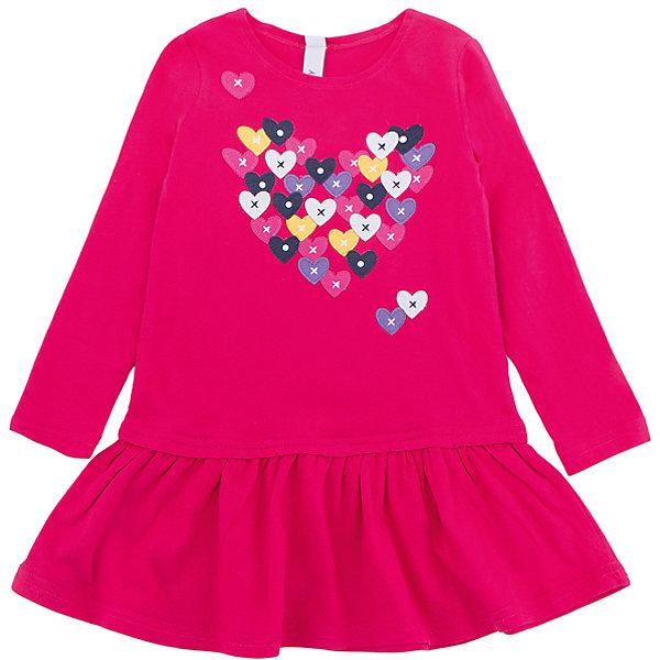 Платье PlayToday для девочкиПлатья и сарафаны<br>Характеристики товара:<br><br>• цвет: красный<br>• состав ткани: 95% хлопок, 5% эластан<br>• сезон: демисезон<br>• длинные рукава<br>• страна бренда: Германия<br>• страна изготовитель: Китай<br><br>Стильное платье для детей сделано из дышащего материала. Трикотажное платье для девочки - удобная и модная вещь. Детское платье декорировано оригинальным принтом. Детская одежда и обувь от PlayToday - это стильные вещи по доступным ценам. <br><br>Платье PlayToday (ПлэйТудэй) для девочки можно купить в нашем интернет-магазине.<br><br>Ширина мм: 236<br>Глубина мм: 16<br>Высота мм: 184<br>Вес г: 177<br>Цвет: белый<br>Возраст от месяцев: 24<br>Возраст до месяцев: 36<br>Пол: Женский<br>Возраст: Детский<br>Размер: 98,128,122,116,110,104<br>SKU: 7115470