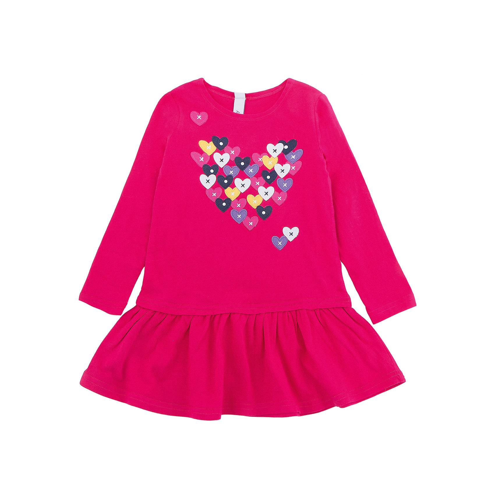 Платье PlayToday для девочкиПлатья и сарафаны<br>Платье PlayToday для девочки<br>Классическое платье - отличное решение для повседневного гардероба. Модель с округлым вырезом и заниженной юбкой, декорирована принтом. Натуральный материал не вызывает раздражений. Свободный крой не сковывает движений ребенка.<br>Состав:<br>95% хлопок, 5% эластан<br><br>Ширина мм: 236<br>Глубина мм: 16<br>Высота мм: 184<br>Вес г: 177<br>Цвет: белый<br>Возраст от месяцев: 72<br>Возраст до месяцев: 84<br>Пол: Женский<br>Возраст: Детский<br>Размер: 122,128,98,104,110,116<br>SKU: 7115470