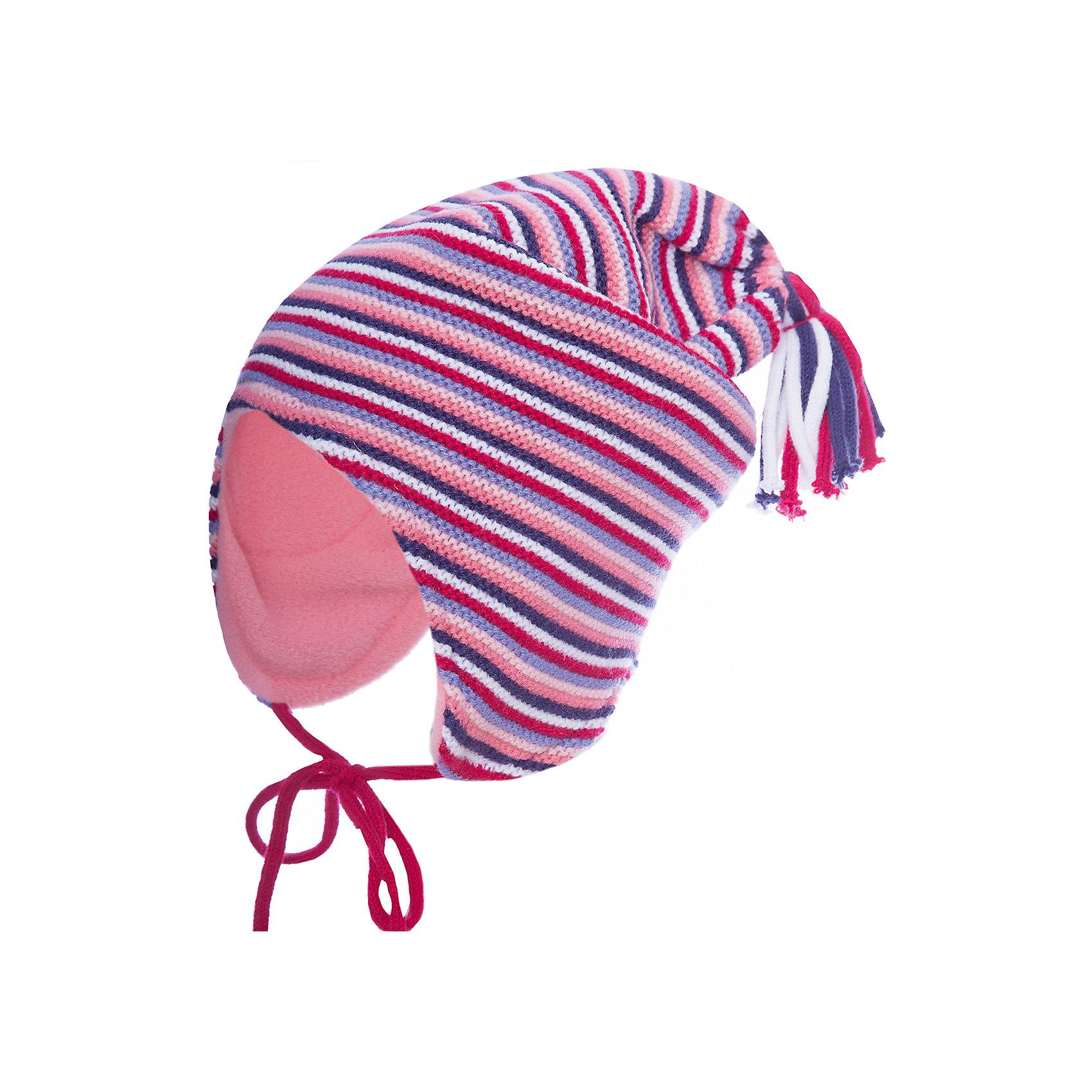 Шапка PlayToday для девочкиГоловные уборы<br>Шапка PlayToday для девочки<br>Шапка из трикотажа на подкладке - отличное решение для холодной погоды. Модель на завязках, дополнена оригинальным помпоном. Подкладка изделия из теплого флиса, в области ушей дополнена специальными вставками. Эргономичная конструкция такой шапки защитит уши ребенка при сильном ветре.<br>Состав:<br>100% акрил<br><br>Ширина мм: 89<br>Глубина мм: 117<br>Высота мм: 44<br>Вес г: 155<br>Цвет: белый<br>Возраст от месяцев: 72<br>Возраст до месяцев: 84<br>Пол: Женский<br>Возраст: Детский<br>Размер: 54,52,50<br>SKU: 7115526