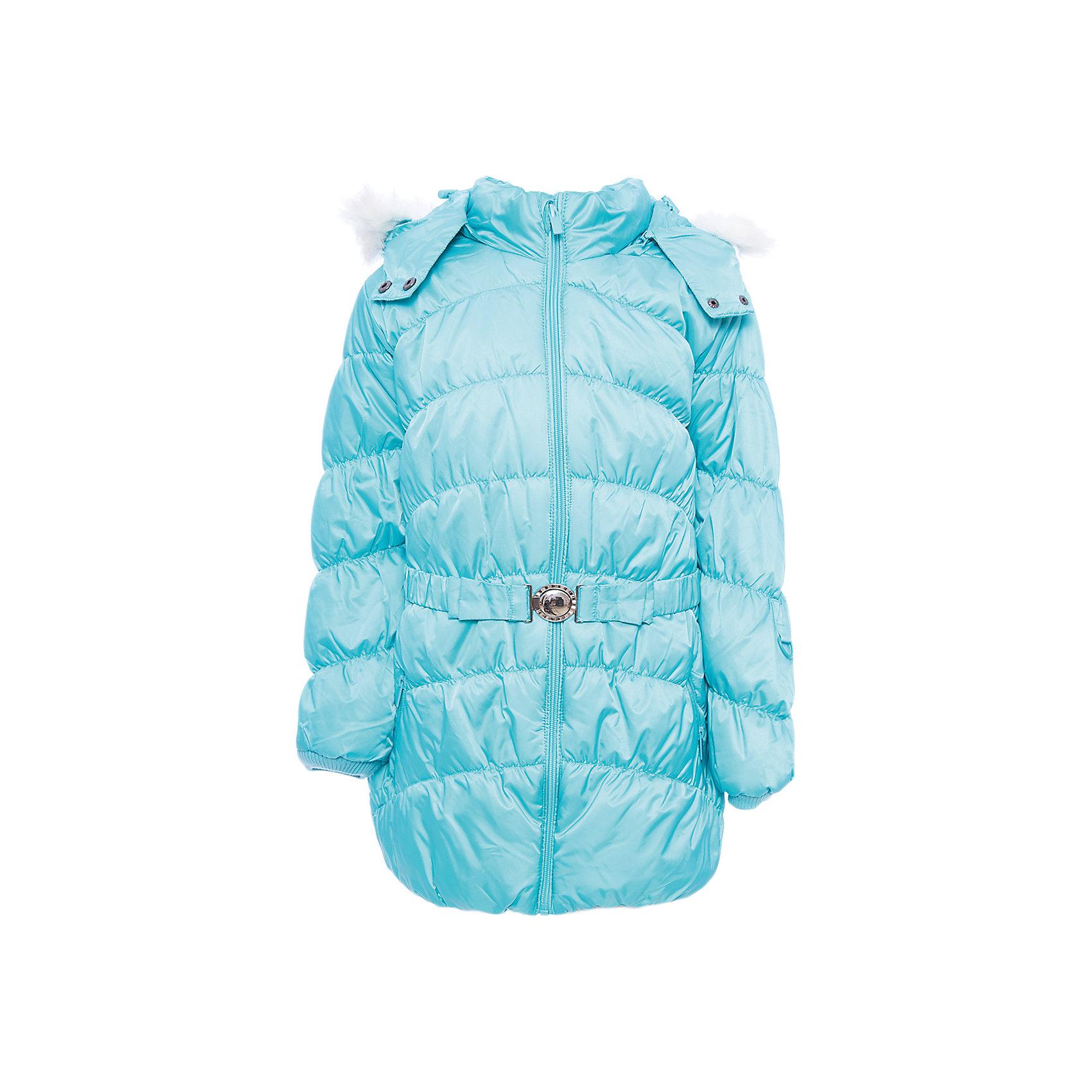 Куртка PlayToday для девочкиВерхняя одежда<br>Куртка PlayToday для девочки<br>Теплая стеганая куртка на молнии из ткани с водоотталкивающей пропиткой - отличное решение для холодной зимы. Специальный карман для фиксации бегунка на молнии не позволит застежке травмировать нежную детскую кожу. Модель дополнена капюшоном, декорированным искусственным мехом. При необходимости и капюшон, и мех можно отстегнуть. Пояс куртки с эффектной пряжкой. Манжеты и низ изделия на мягких резинках. Подкладка и внутрення часть воротника из теплого флиса. Рукава дополнены специальными кольцами, на которые можно пристегнуть варежки или перчатки. Куртка с удобными вшивными карманами на молниях. Светоотражатели обеспечат безопасность ребенка - он будет виден в темное время суток.<br>Состав:<br>Верх: 100% полиэстер, Подкладка: 100% полиэстер, Наполнитель: 100% полиэстер, 300 г/м2<br><br>Ширина мм: 356<br>Глубина мм: 10<br>Высота мм: 245<br>Вес г: 519<br>Цвет: голубой<br>Возраст от месяцев: 84<br>Возраст до месяцев: 96<br>Пол: Женский<br>Возраст: Детский<br>Размер: 128,98,104,110,116,122<br>SKU: 7115562