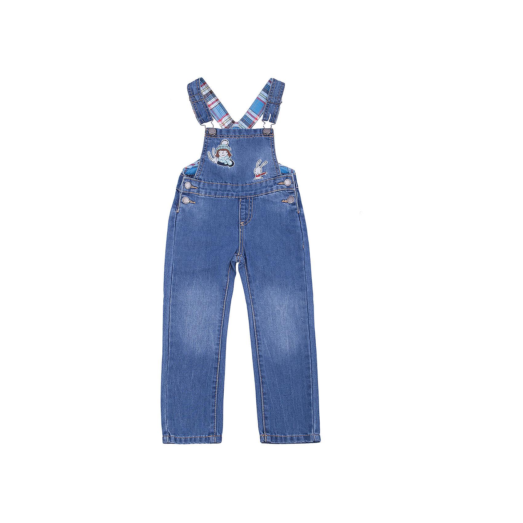 Полукомбинезон PlayToday для девочкиКомбинезоны<br>Полукомбинезон PlayToday для девочки<br>Практичный полукомбинезон из джинсовой ткани - отличное дополнение к повседневному гардеробу ребенка. Модель с регулируемыми бретелями. В качестве застежек использованы удобные пуговицы - болты. Полукомбинезон декорирован аппликацией.<br>Состав:<br>80% хлопок, 20% полиэстер<br><br>Ширина мм: 215<br>Глубина мм: 88<br>Высота мм: 191<br>Вес г: 336<br>Цвет: синий<br>Возраст от месяцев: 84<br>Возраст до месяцев: 96<br>Пол: Женский<br>Возраст: Детский<br>Размер: 128,98,104,110,116,122<br>SKU: 7115653