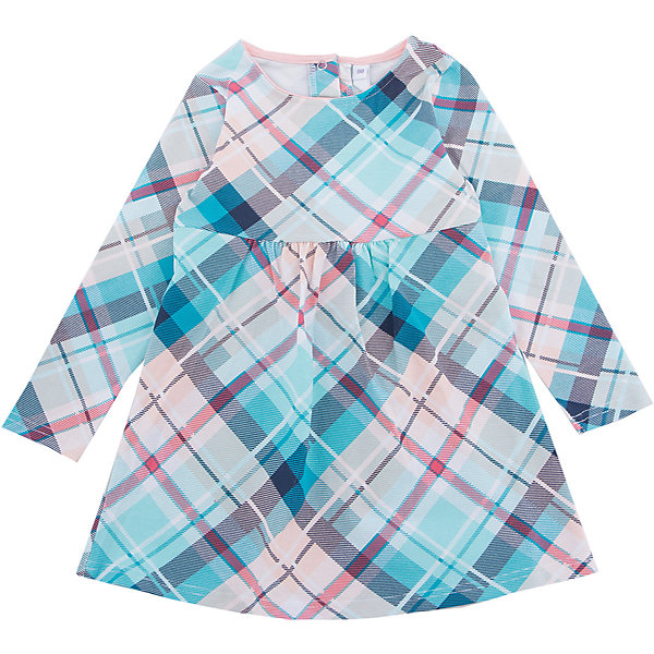 Платье PlayToday для девочкиПлатья и сарафаны<br>Характеристики товара:<br><br>• цвет: голубой<br>• состав ткани: 95% хлопок, 5% эластан<br>• сезон: демисезон<br>• застежка: кнопки<br>• длинные рукава<br>• страна бренда: Германия<br>• страна изготовитель: Китай<br><br>Стильное платье для детей сделано из дышащего материала. Трикотажное платье для девочки - удобная и модная вещь. Детское платье - с округлым вырезом горловины и длинным рукавом. Детская одежда и обувь от PlayToday - это стильные вещи по доступным ценам. <br><br>Платье PlayToday (ПлэйТудэй) для девочки можно купить в нашем интернет-магазине.<br><br>Ширина мм: 236<br>Глубина мм: 16<br>Высота мм: 184<br>Вес г: 177<br>Цвет: белый<br>Возраст от месяцев: 84<br>Возраст до месяцев: 96<br>Пол: Женский<br>Возраст: Детский<br>Размер: 128,122,116,110,104,98<br>SKU: 7115688