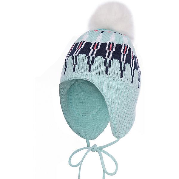 Шапка PlayToday для девочкиГоловные уборы<br>Характеристики товара:<br><br>• цвет: голубой<br>• состав ткани: 100% акрил<br>• сезон: демисезон<br>• застежка: завязки<br>• страна бренда: Германия<br>• страна изготовитель: Китай<br><br>Теплая шапка для девочки дополнена удобными завязками. Детская шапка комфортно сидит на голове благодаря мягкому материалу. Шапка для детей декорирована помпоном. Детская одежда и обувь от PlayToday - это стильные вещи по доступным ценам. <br><br>Шапку PlayToday (ПлэйТудэй) для девочки можно купить в нашем интернет-магазине.<br><br>Ширина мм: 89<br>Глубина мм: 117<br>Высота мм: 44<br>Вес г: 155<br>Цвет: белый<br>Возраст от месяцев: 24<br>Возраст до месяцев: 36<br>Пол: Женский<br>Возраст: Детский<br>Размер: 50,54,52<br>SKU: 7115775
