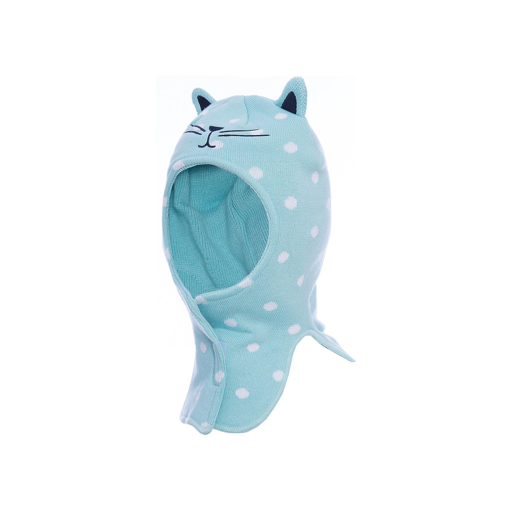 Шапка PlayToday для девочкиДемисезонные<br>Шапка PlayToday для девочки<br>Вязаная шапка на липучках. Хорошо прилегает к голове и комфортна при носке, плотно закрывает шею и грудь ребенка. В области ушей специальные ветрозащитные вставки. Эргономичная конструкция такой шапки защитит уши ребенка при сильном ветре. Модель декорирована ушками животного.<br>Состав:<br>Верх: 60% хлопок, 40% акрил, подкладка:100% полиэстер<br><br>Ширина мм: 89<br>Глубина мм: 117<br>Высота мм: 44<br>Вес г: 155<br>Цвет: белый<br>Возраст от месяцев: 72<br>Возраст до месяцев: 84<br>Пол: Женский<br>Возраст: Детский<br>Размер: 54,50,52<br>SKU: 7115779