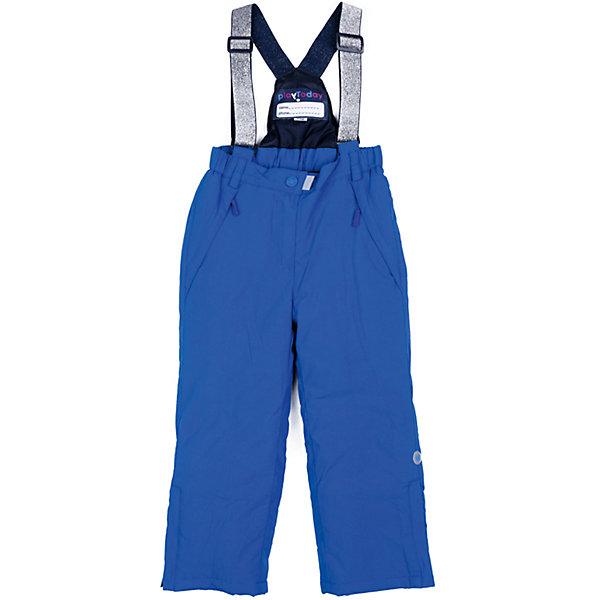 Брюки PlayToday для девочкиВерхняя одежда<br>Характеристики товара:<br><br>• цвет: синий<br>• состав ткани: 100% нейлон<br>• подкладка: 100% полиэстер<br>• утеплитель: 100% полиэстер<br>• сезон: демисезон<br>• температурный режим: от -5 до +15<br>• плотность утеплителя: 150 г/м2<br>• пояс: резинка<br>• страна бренда: Германия<br>• страна изготовитель: Китай<br><br>Практичные брюки для девочки легко надеваются благодаря удобной резинке. Детские брюки дополнены карманами. Брюки для детей сделаны из качественного материала. Детская одежда и обувь от европейского бренда PlayToday - выбор многих родителей. <br><br>Брюки PlayToday (ПлэйТудэй) для девочки можно купить в нашем интернет-магазине.<br><br>Ширина мм: 215<br>Глубина мм: 88<br>Высота мм: 191<br>Вес г: 336<br>Цвет: голубой<br>Возраст от месяцев: 84<br>Возраст до месяцев: 96<br>Пол: Женский<br>Возраст: Детский<br>Размер: 128,98,104,110,116,122<br>SKU: 7115818
