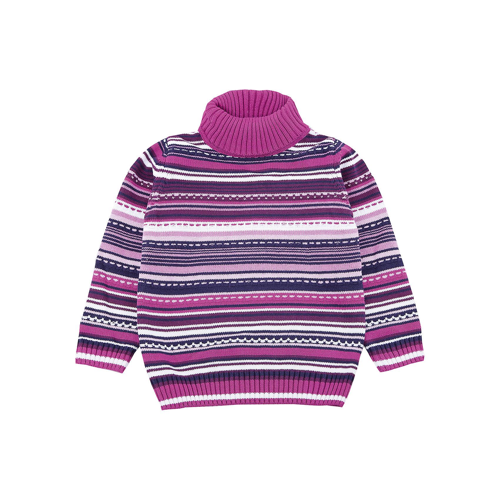 Свитер PlayToday для девочкиСвитера и кардиганы<br>Свитер PlayToday для девочки<br>Удобный свитер с высоким горлом - отличное решение для повседневного гардероба ребенка. Модель выполнена по технологии yarn dyed -  в процессе производства используются разного цвета нити. При правильном уходе изделие не линяет и надолго остается в первоначальном виде. Горловина, манжеты и низ изделия на мягких трикотажных резинках. Свободный крой не сковывает движений ребенка.<br>Состав:<br>60% хлопок, 40% акрил<br><br>Ширина мм: 190<br>Глубина мм: 74<br>Высота мм: 229<br>Вес г: 236<br>Цвет: белый<br>Возраст от месяцев: 48<br>Возраст до месяцев: 60<br>Пол: Женский<br>Возраст: Детский<br>Размер: 110,116,122,128,98,104<br>SKU: 7115825