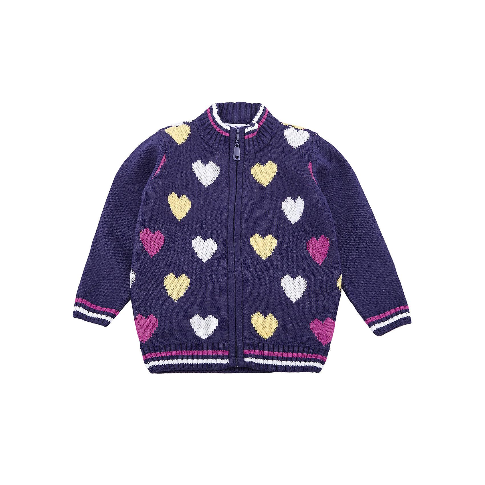 Кардиган PlayToday для девочкиСвитера и кардиганы<br>Кардиган PlayToday для девочки<br>Удобный кардиган на молнии - отличное решение для повседневного гардероба ребенка. Модель выполнена по технологии yarn dyed -  в процессе производства используются разного цвета нити. При правильном уходе изделие не линяет и надолго остается в первоначальном виде. Горловина, манжеты и низ изделия на мягких трикотажных резинках. Свободный крой не сковывает движений ребенка.<br>Состав:<br>60% хлопок, 40% акрил<br><br>Ширина мм: 190<br>Глубина мм: 74<br>Высота мм: 229<br>Вес г: 236<br>Цвет: белый<br>Возраст от месяцев: 84<br>Возраст до месяцев: 96<br>Пол: Женский<br>Возраст: Детский<br>Размер: 128,98,104,110,116,122<br>SKU: 7115832