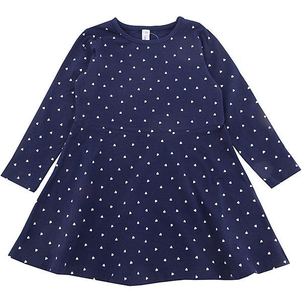 Платье PlayToday для девочкиПлатья и сарафаны<br>Характеристики товара:<br><br>• цвет: синий<br>• состав ткани: 95% хлопок, 5% эластан<br>• сезон: демисезон<br>• длинные рукава<br>• страна бренда: Германия<br>• страна изготовитель: Китай<br><br>Стильное платье для детей сделано из дышащего материала. Трикотажное платье для девочки - удобная и модная вещь. Детское платье - с округлым вырезом горловины и длинным рукавом. Детская одежда и обувь от PlayToday - это стильные вещи по доступным ценам. <br><br>Платье PlayToday (ПлэйТудэй) для девочки можно купить в нашем интернет-магазине.<br>Ширина мм: 236; Глубина мм: 16; Высота мм: 184; Вес г: 177; Цвет: белый; Возраст от месяцев: 48; Возраст до месяцев: 60; Пол: Женский; Возраст: Детский; Размер: 110,98,128,122,116,104; SKU: 7115895;