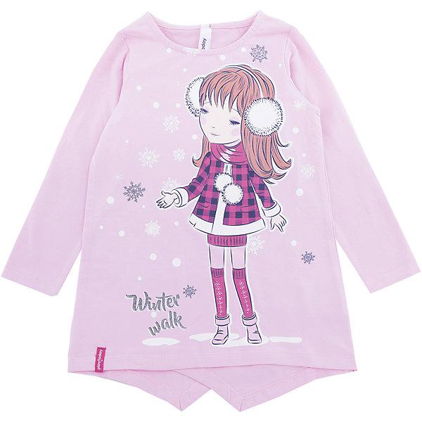 Футболка PlayToday для девочкиФутболки с длинным рукавом<br>Характеристики товара:<br><br>• цвет: розовый<br>• состав ткани: 95% хлопок, 5% эластан<br>• сезон: демисезон<br>• длинные рукава<br>• страна бренда: Германия<br>• страна изготовитель: Китай<br><br>Детская одежда и обувь от европейского бренда PlayToday - выбор многих родителей. Трикотажный лонгслив для девочки - удобная и модная вещь. Детский лонгслив декорирован стильным принтом. Такой лонгслив для детей сделан из дышащего трикотажа.<br><br>Лонгслив PlayToday (ПлэйТудэй) для девочки можно купить в нашем интернет-магазине.<br><br>Ширина мм: 199<br>Глубина мм: 10<br>Высота мм: 161<br>Вес г: 151<br>Цвет: белый<br>Возраст от месяцев: 24<br>Возраст до месяцев: 36<br>Пол: Женский<br>Возраст: Детский<br>Размер: 98,128,122,116,110,104<br>SKU: 7115906
