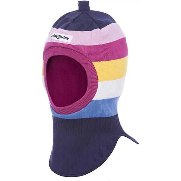 Шапка-шлем PlayToday для девочкиГоловные уборы<br>Характеристики товара:<br><br>• цвет: розовый<br>• состав ткани: 80% хлопок, 18% нейлон, 2% эластан<br>• подкладка: 100% полиэстер<br>• сезон: демисезон<br>• страна бренда: Германия<br>• страна изготовитель: Китай<br><br>Детская одежда и обувь от европейского бренда PlayToday - выбор многих родителей. Двухслойная детская шапка-шлем комфортно сидит на голове благодаря мягкому материалу. Шапка-шлем для детей сделана из флиса. Шапка для девочки выполнена в красивой расцветке. <br><br>Шапку-шлем PlayToday (ПлэйТудэй) для девочки можно купить в нашем интернет-магазине.<br>Ширина мм: 89; Глубина мм: 117; Высота мм: 44; Вес г: 155; Цвет: белый; Возраст от месяцев: 72; Возраст до месяцев: 84; Пол: Женский; Возраст: Детский; Размер: 50,52,54; SKU: 7115938;