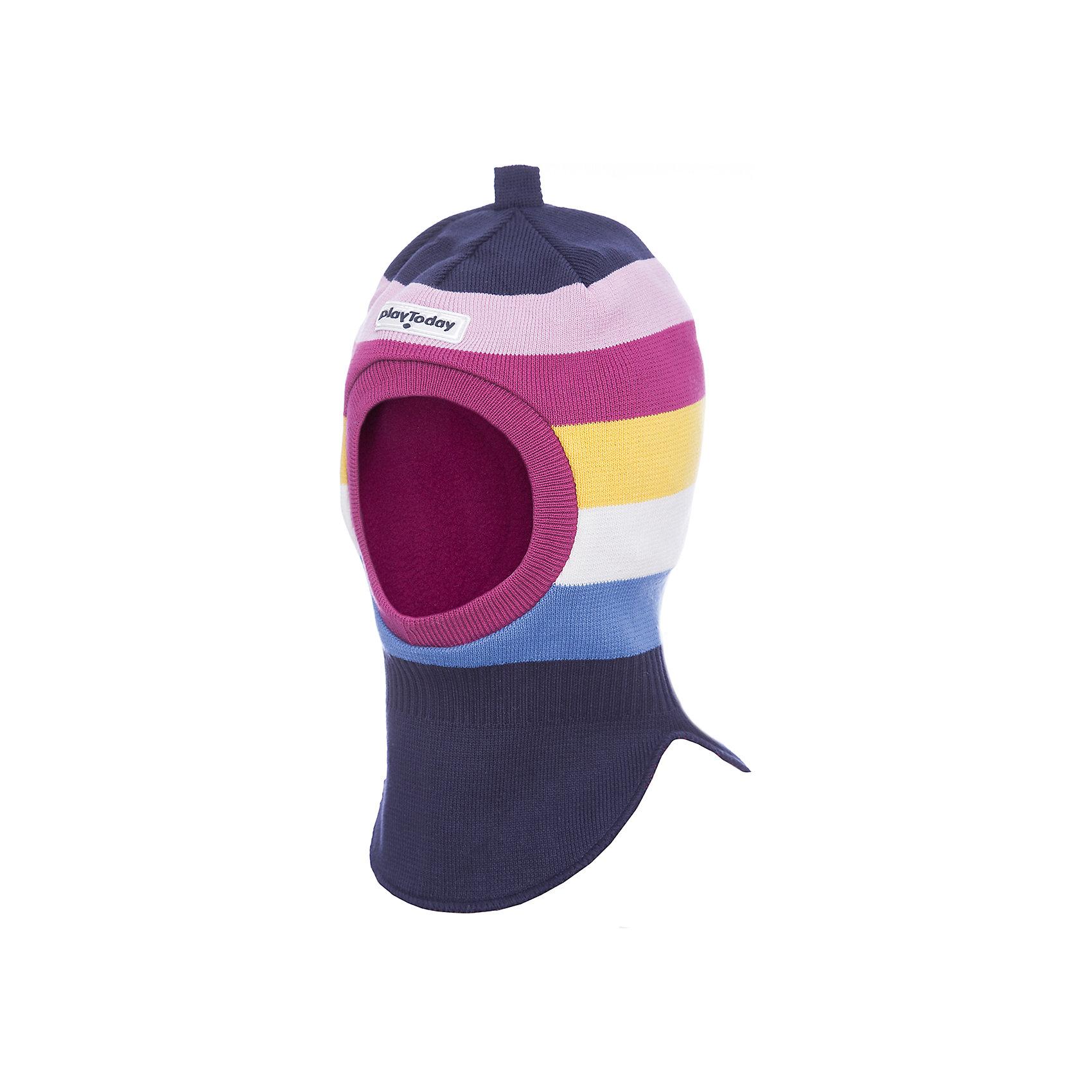 Шапка-шлем PlayToday для девочкиГоловные уборы<br>Шапка-шлем PlayToday для девочки<br>Двуслойная шапка - шлем. Внешняя часть из трикотажа, выполненного по технологии yarn dyed - в процессе производства используются разного цвета нити. Изделие, при рекомендуемом уходе, не линяет и надолго остается в первноначальном виде. Подкладка из флиса. Область ушей дополнена специальным ветрозащитными вставками.<br>Состав:<br>Верх: 80% хлопок, 18% нейлон, 2% эластан, подкладка: 100% полиэстер<br><br>Ширина мм: 89<br>Глубина мм: 117<br>Высота мм: 44<br>Вес г: 155<br>Цвет: белый<br>Возраст от месяцев: 24<br>Возраст до месяцев: 36<br>Пол: Женский<br>Возраст: Детский<br>Размер: 52,50,54<br>SKU: 7115938