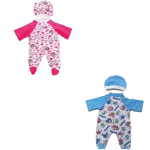 Комплект одежды для куклы Карапуз Комбинезон с шапочкой, 40-42 смОдежда для кукол<br>Характеристики товара:<br><br>• возраст: от 3 лет;<br>• для девочек;<br>• цвет: розовый/голубой;<br>• комплект: комбинезон, шапочка;<br>• из чего сделана игрушка (состав): текстиль;<br>• размер упаковки: 28x18x3 см;<br>• вес: 0,02 кг.;<br>• упаковка: пакет с хедером;<br>• подходящая высота куклы: 40-42 см;<br>• страна обладатель бренда: Россия.<br><br>Комплект одежды для куклы «Комбинезон с шапочкой» от российского производителя «Карапуз» поможет ребенку обновить образ любимой игрушки. Предметы одежды имеют приятный дизайн и, благодаря превалирующему голубому цвету, отлично подойдут кукле-мальчику. Каждый элемент комплекта выполнен качественно из мягких и приятных на ощупь материалов. <br><br>Комплект одежды для куклы «Карапуз» можно купить в нашем интернет-магазине.<br>Ширина мм: 280; Глубина мм: 3; Высота мм: 185; Вес г: 20; Возраст от месяцев: 36; Возраст до месяцев: 84; Пол: Женский; Возраст: Детский; SKU: 7117602;