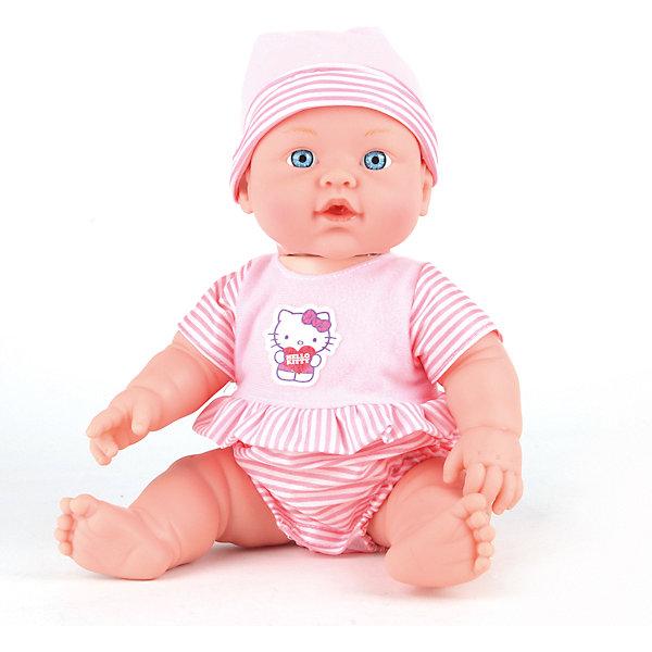 Кукла-пупс Карапуз Hello Kitty, 30 смБренды кукол<br>Характеристики товара:<br><br>• возраст: от 3 лет;<br>• интерактивные функции: пьет, умеет писать и плакать;<br>• в комплекте: горшок, бутылочка;<br>• материал: пластик, текстиль;<br>• вес: 0,64 кг.;<br>• размер: 15х25х30 см.;<br>• страна производитель: Россия.<br><br>Пупс одет в розовый костюмчик, украшенный изображением белого котенка из мультика «Хеллоу Китти», а на голове у него мягкая шапочка в полоску. Игрушка оснащена несколькими интерактивными функциями, которые активируются при нажатии на ручку малыша. Пупс умеет пить из бутылочки, предусмотренной в комплекте, а потом реалистично писать в горшок. Кукла поражает особым умением плакать, при котором из глаз текут правдоподобные слезы. <br><br>Пупс изготовлен из особопрочных материалов высокого качества, поэтому прослужит ребёнку долгое время. Игрушка и аксессуары окрашены насыщенными стойкими красителями, поэтому сохраняют привлекательный внешний вид и не выгорают на солнце. <br><br>Пупса «Hello Kitty» можно купить в нашем интернет-магазине.<br><br>Ширина мм: 250<br>Глубина мм: 150<br>Высота мм: 300<br>Вес г: 640<br>Возраст от месяцев: 36<br>Возраст до месяцев: 84<br>Пол: Женский<br>Возраст: Детский<br>SKU: 7117603