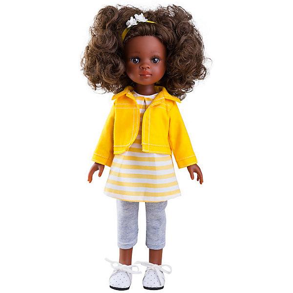 Кукла Paola Reina Нора 32 смБренды кукол<br>Характеристики товара:<br><br>• возраст: от 3 лет;<br>• пол: девочка;<br>• подвижные руки, ноги и голова;<br>• мягкие волосы, которые можно расчесывать; <br>• высота кукол: 32 см;<br>• размер упаковки: 23х41х11 см;   <br>• вес : 667гр.;<br>• материал: винил, текстиль;                                       <br>• страна-производитель: Испания.                                   <br><br>Paola Reina Кукла Нора 32 см - это та игрушка, о которой мечтает каждая девочка. Продуманный до мелочей образ куклы не оставит вашу маленькую принцессу равнодушной.<br><br>Кукла Paola Reina Нора имеет нежный ванильный аромат, уникальный и неповторимый дизайн лица и тела, ручная работа: ресницы, веснушки, щечки, губы, прическа, волосы легко расчесываются и блестят. Кукла имеет темную кожу, черные волосы, карие глаза. Глаза не закрываются, ручки, ножки и голова поворачиваются. Качество подтверждено нормами безопасности EN17 ЕЭС. <br><br>Куклу Paola Reina Нора 32 см , можно купить в нашем интернет-магазине.<br><br>Ширина мм: 110<br>Глубина мм: 230<br>Высота мм: 410<br>Вес г: 667<br>Возраст от месяцев: 36<br>Возраст до месяцев: 144<br>Пол: Женский<br>Возраст: Детский<br>SKU: 7118825