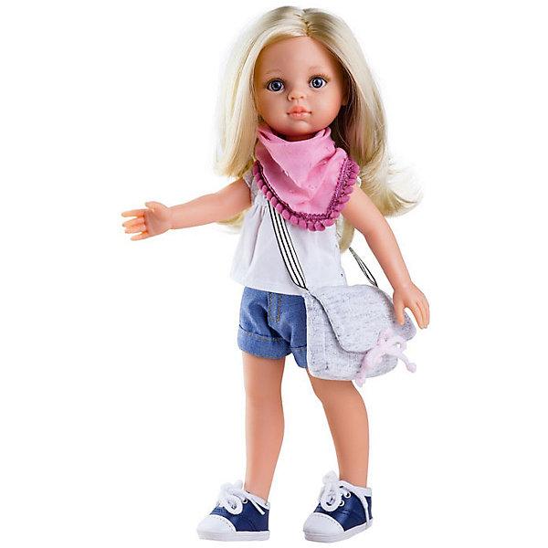 Кукла Paola Reina Клаудия, 32 смБренды кукол<br>Характеристики товара:<br><br>• возраст: от 3 лет;<br>• пол: девочка;<br>• подвижные руки, ноги и голова;<br>• мягкие волосы, которые можно расчесывать; <br>• высота кукол: 32 см;<br>• размер упаковки: 23х41х11 см;   <br>• вес : 667гр.;<br>• материал: винил, текстиль;                                       <br>• страна-производитель: Испания.                                   <br><br>Популярная кукла Paola Reina Клаудия, несмотря на свою любовь к моде, тоже любит простые радости жизни – например, прогуляться на свежем воздухе в кроссовках, футболке и шортах. Девочкам так нравится делать Клаудии прически и менять наряды! <br><br>Кукла Paola Reina Клаудия имеет нежный ванильный аромат, уникальный и неповторимый дизайн лица и тела, ручная работа: ресницы, веснушки, щечки, губы, прическа, волосы легко расчесываются и блестят. Кукла имеет темную кожу, черные волосы, карие глаза. Глаза не закрываются, ручки, ножки и голова поворачиваются. Качество подтверждено нормами безопасности EN17 ЕЭС. <br><br>Куклу Paola Reina Клаудия 32 см , можно купить в нашем интернет-магазине.<br>Ширина мм: 110; Глубина мм: 230; Высота мм: 410; Вес г: 667; Возраст от месяцев: 36; Возраст до месяцев: 144; Пол: Женский; Возраст: Детский; SKU: 7118826;