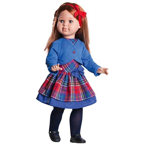 Кукла Paola Reina Сандра, 60 смБренды кукол<br>Характеристики товара:<br><br>• возраст: от 3 лет;<br>• пол: девочка;<br>• подвижные руки, ноги и голова;<br>• ручки сгибаются в локтях;<br>• ножки сгибаются в коленях;<br>• запястья поворачиваются;<br>• мягкие волосы, которые можно расчесывать; <br>• высота кукол: 60 см;<br>• размер упаковки: 34х69х17,5 см;   <br>• вес : 1,75 кг.;<br>• материал: винил, текстиль;                                       <br>• страна-производитель: Испания.                                   <br>  <br>Кукла Paola Reina Сандра имеет нежный ванильный аромат, уникальный и неповторимый дизайн лица и тела, ручная работа: ресницы, веснушки, щечки, губы, прическа, волосы легко расчесываются и блестят. Ручки сгибаются в локтях, ножки сгибаются в коленях, запястья поворачиваются. Глазки закрываются. Наряд игрушки и аксессуары можно при необходимости постирать, и они останутся такими же яркими и привлекательными. Тело куклы выполнено из приятного на ощупь высококачественного винила, который имеет лёгкий аромат ванили.<br><br>Материалы, из которых изготовлена игрушка, прошли все необходимые сертификации и проверки на безопасность для детей. Качество подтверждено нормами безопасности EN71 ЕЭС.<br><br>Материалы: кукла изготовлена из винила и текстиля; глаза выполнены в виде кристалла из прозрачного твердого пластика; волосы сделаны из высококачественного нейлона.<br><br>Куклу Paola Reina Сандра 60 см , можно купить в нашем интернет-магазине.<br><br>Ширина мм: 175<br>Глубина мм: 340<br>Высота мм: 690<br>Вес г: 1750<br>Возраст от месяцев: 36<br>Возраст до месяцев: 144<br>Пол: Женский<br>Возраст: Детский<br>SKU: 7118828