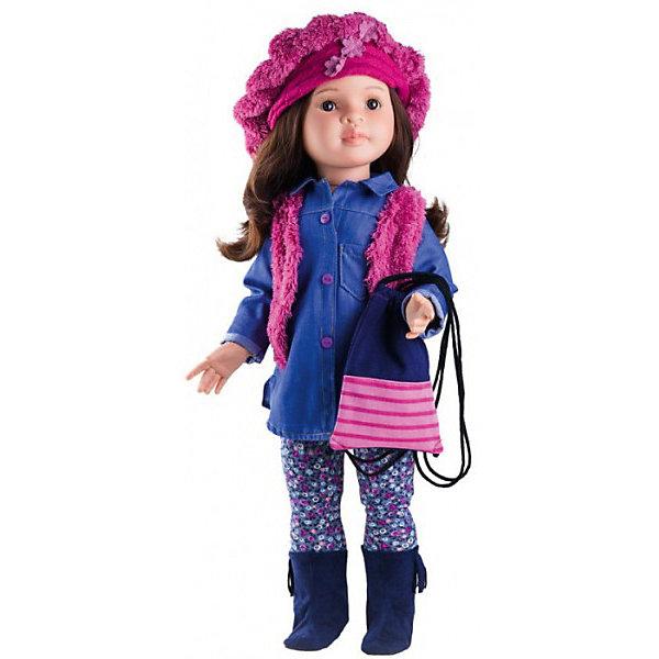 Кукла Paola Reina Лидия, 60 смБренды кукол<br>Характеристики товара:<br><br>• возраст: от 3 лет;<br>• пол: девочка;<br>• подвижные руки, ноги и голова;<br>• ручки сгибаются в локтях;<br>• ножки сгибаются в коленях;<br>• запястья поворачиваются;<br>• мягкие волосы, которые можно расчесывать; <br>• высота кукол: 60 см;<br>• размер упаковки: 34х69х17,5 см;   <br>• вес : 1,75 кг.;<br>• материал: винил, текстиль;                                       <br>• страна-производитель: Испания.                                   <br>  <br>Кукла Paola Reina Сандра имеет нежный ванильный аромат, уникальный и неповторимый дизайн лица и тела, ручная работа: ресницы, веснушки, щечки, губы, прическа, волосы легко расчесываются и блестят. Ручки сгибаются в локтях, ножки сгибаются в коленях, запястья поворачиваются. Глазки закрываются. Наряд игрушки и аксессуары можно при необходимости постирать, и они останутся такими же яркими и привлекательными. Тело куклы выполнено из приятного на ощупь высококачественного винила, который имеет лёгкий аромат ванили.<br><br>Материалы, из которых изготовлена игрушка, прошли все необходимые сертификации и проверки на безопасность для детей. Качество подтверждено нормами безопасности EN71 ЕЭС.<br><br>Материалы: кукла изготовлена из винила и текстиля; глаза выполнены в виде кристалла из прозрачного твердого пластика; волосы сделаны из высококачественного нейлона.<br><br>Куклу Paola Reina Сандра 60 см , можно купить в нашем интернет-магазине.<br><br>Ширина мм: 175<br>Глубина мм: 340<br>Высота мм: 690<br>Вес г: 1750<br>Возраст от месяцев: 36<br>Возраст до месяцев: 144<br>Пол: Женский<br>Возраст: Детский<br>SKU: 7118829