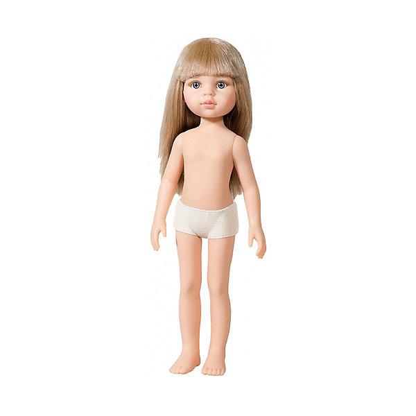 Кукла Paola Reina Карла без одежды, 32 смБренды кукол<br>Характеристики товара:<br><br>• возраст: от 3 лет;<br>• пол: девочка;<br>• подвижные руки, ноги и голова;<br>• мягкие волосы, которые можно расчесывать; <br>• высота кукол: 32см;<br>• размер упаковки: 7х14х32 см;   <br>• вес : 330 гр.;<br>• материал: винил;                                       <br>• страна-производитель: Испания.                                   <br>  <br>Кукла Paola Reina Карла имеет нежный ванильный аромат, уникальный и неповторимый дизайн лица и тела, ручная работа: ресницы, веснушки, щечки, губы, прическа, волосы легко расчесываются и блестят. Тело куклы выполнено из приятного на ощупь высококачественного винила, который имеет лёгкий аромат ванили.<br><br>Кукла Карла– светловолосая малышка с голубыми глазами. Кукла продается без одежды. Одежду можно купить отдельно или пошить самим на свой вкус.<br><br>Материалы: кукла изготовлена из винила и текстиля; глаза выполнены в виде кристалла из прозрачного твердого пластика; волосы сделаны из высококачественного нейлона.<br><br>Куклу Paola Reina Карла 32 см , можно купить в нашем интернет-магазине.<br>Ширина мм: 70; Глубина мм: 140; Высота мм: 320; Вес г: 330; Возраст от месяцев: 36; Возраст до месяцев: 144; Пол: Женский; Возраст: Детский; SKU: 7118836;