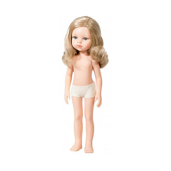 Кукла Paola Reina Карла без одежды, 32 смБренды кукол<br>Характеристики товара:<br><br>• возраст: от 3 лет;<br>• пол: девочка;<br>• подвижные руки, ноги и голова;<br>• мягкие волосы, которые можно расчесывать; <br>• высота кукол: 32см;<br>• размер упаковки: 7х14х32 см;   <br>• вес : 330 гр.;<br>• материал: винил;                                       <br>• страна-производитель: Испания.                                   <br>  <br>Кукла Paola Reina Карла имеет нежный ванильный аромат, уникальный и неповторимый дизайн лица и тела, ручная работа: ресницы, веснушки, щечки, губы, прическа, волосы легко расчесываются и блестят. Тело куклы выполнено из приятного на ощупь высококачественного винила, который имеет лёгкий аромат ванили.<br><br>Кукла Карла–малышка с длинными вьющимася волосами без челки с голубыми глазами. Кукла продается без одежды. Одежду можно купить отдельно или пошить самим на свой вкус.<br><br>Материалы: кукла изготовлена из винила и текстиля; глаза выполнены в виде кристалла из прозрачного твердого пластика; волосы сделаны из высококачественного нейлона.<br><br>Куклу Paola Reina Карла 32 см , можно купить в нашем интернет-магазине.<br><br>Ширина мм: 70<br>Глубина мм: 140<br>Высота мм: 320<br>Вес г: 330<br>Возраст от месяцев: 36<br>Возраст до месяцев: 144<br>Пол: Женский<br>Возраст: Детский<br>SKU: 7118839