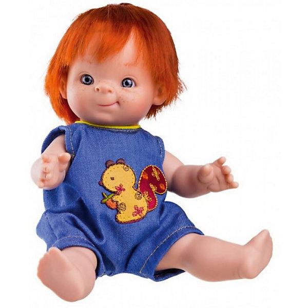 Кукла-пупс Paola Reina Феде, 21 смБренды кукол<br>Характеристики товара:<br><br>• возраст: от 3 лет;<br>• пол: девочка;<br>• подвижные руки, ноги и голова;<br>• мягкие волосы, которые можно расчесывать; <br>• высота кукол: 21см;<br>• размер упаковки: 16х9х26 см;   <br>• вес : 400 гр.;<br>• материал: винил,текстиль;                                       <br>• страна-производитель: Испания.                                   <br>  <br>Великолепная кукла от мастеров испанского бренда Paola Reina завораживает своим неповторимым дизайном лица, шикарными волосами и деталями ручной работы – реснички, веснушки, щечки и пухлые губки!<br><br>У  куколки Паола Рейна Феде нежный аромат ванили, глазки в виде кристалла из прозрачного твердого пластика, не закрываются; волосы, которые красиво блестят и легко расчесываются, поворачиваются голова, ручки и ножки.<br><br>Благодаря пяти точкам артикуляции и мягкости винила, ее удобно переодевать. Кукла изготовлена из качественного и экологически чистого винила, а волосы сделаны из высококачественного нейлона. Качество подтверждено нормами безопасности EN17 ЕЭС. Куколка упакована в красивую картонную коробку с окошком.<br><br>Куклу-пупс Paola Reina Феде 21 см , можно купить в нашем интернет-магазине.<br><br>Ширина мм: 160<br>Глубина мм: 90<br>Высота мм: 260<br>Вес г: 400<br>Возраст от месяцев: 36<br>Возраст до месяцев: 144<br>Пол: Женский<br>Возраст: Детский<br>SKU: 7118841