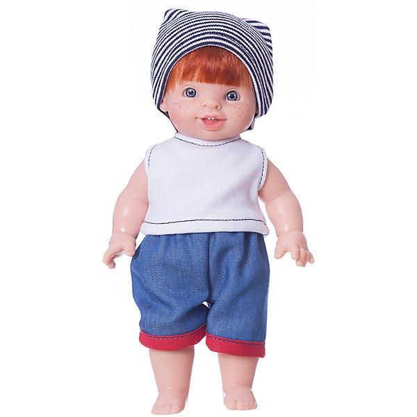 Кукла-пупс Paola Reina Фабиан, 21 смБренды кукол<br>Характеристики товара:<br><br>• возраст: от 3 лет;<br>• пол: девочка;<br>• подвижные руки, ноги и голова;<br>• мягкие волосы, которые можно расчесывать; <br>• высота кукол: 21см;<br>• размер упаковки: 16х9х26 см;   <br>• вес : 400 гр.;<br>• материал: винил,текстиль;                                       <br>• страна-производитель: Испания.                                   <br>  <br>Великолепная кукла от мастеров испанского бренда Paola Reina завораживает своим неповторимым дизайном лица, шикарными волосами и деталями ручной работы – реснички, веснушки, щечки и пухлые губки!<br><br>Кукла-пупс Фабиан - коренной француз,у него нежный аромат ванили, глазки в виде кристалла из прозрачного твердого пластика, не закрываются; волосы, которые красиво блестят и легко расчесываются, поворачиваются голова, ручки и ножки.<br><br>Благодаря пяти точкам артикуляции и мягкости винила, ее удобно переодевать. Кукла изготовлена из качественного и экологически чистого винила, а волосы сделаны из высококачественного нейлона. Качество подтверждено нормами безопасности EN17 ЕЭС. Куколка упакована в красивую картонную коробку с окошком.<br><br>Куклу-пупс Paola Reina Фабиан 21 см , можно купить в нашем интернет-магазине.<br><br>Ширина мм: 160<br>Глубина мм: 90<br>Высота мм: 260<br>Вес г: 400<br>Возраст от месяцев: 36<br>Возраст до месяцев: 144<br>Пол: Женский<br>Возраст: Детский<br>SKU: 7118843