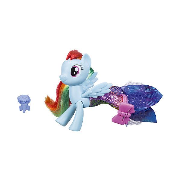 Игровой набор Hasbro My little Pony Мерцание. Пони в волшебных платьях, Рэйнбоу ДэшФигурки из мультфильмов<br>Характеристики:<br><br>• в наборе представлен персонаж из серии «Мерцание;<br>• особенностью игрушки является облачение пони в волшебное платье;<br>• материал фигурки: пластик;<br>• дополнительные аксессуары позволяют разнообразить игру;<br>• фигурки можно использовать в комбинации с различными игровыми наборами MLP.<br><br>MLP «Мерцание» Пони в волшебных платьях можно купить в нашем интернет-магазине.<br>Ширина мм: 209; Глубина мм: 182; Высота мм: 58; Вес г: 131; Возраст от месяцев: 36; Возраст до месяцев: 72; Пол: Женский; Возраст: Детский; SKU: 7120211;