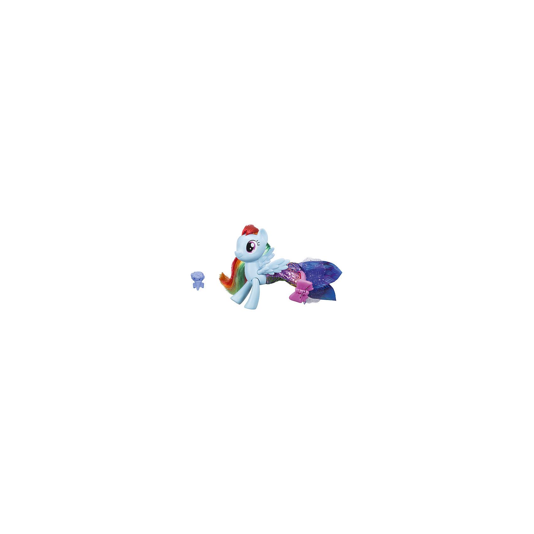 Игровой набор Hasbro My little Pony Мерцание. Пони в волшебных платьях, Рэйнбоу ДэшФигурки из мультфильмов<br>Характеристики:<br><br>• в наборе представлен персонаж из серии «Мерцание;<br>• особенностью игрушки является облачение пони в волшебное платье;<br>• материал фигурки: пластик;<br>• дополнительные аксессуары позволяют разнообразить игру;<br>• фигурки можно использовать в комбинации с различными игровыми наборами MLP.<br><br>MLP «Мерцание» Пони в волшебных платьях можно купить в нашем интернет-магазине.<br><br>Ширина мм: 209<br>Глубина мм: 182<br>Высота мм: 58<br>Вес г: 131<br>Возраст от месяцев: 36<br>Возраст до месяцев: 72<br>Пол: Женский<br>Возраст: Детский<br>SKU: 7120211