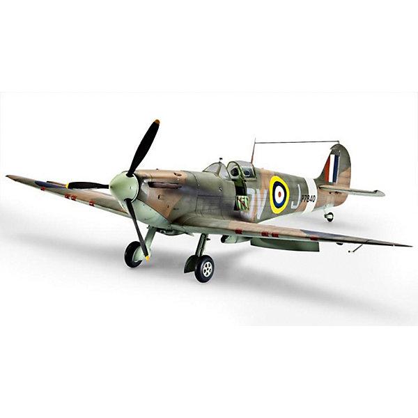 """Самолет Истребитель Спитфайэр Mk II, британский времен Второй Мировой ВойныСамолеты и вертолеты<br>Сборная модель самолета Spitfire Mk. IXC. Английский истребитель времен Второй мировой был принят на вооружение в 1938 году. Всего было построено около 20 тысяч машин. Spitfire Mk применялись в основном на Западном фронте. В СССР по ленд-лизу было поставлено крайне мало подобных истребителей. Несколько """"спитфаеров"""" участвовали в боях над Украиной в 1943 году. <br>Масштаб: 1:32 <br>Количество деталей: 165 шт <br>Длина модели: 282 мм <br>Размах крыльев: 345 мм <br>Для детей старше 10-и лет <br>Клей, краски и кисточки продаются отдельно.<br><br>Ширина мм: 386<br>Глубина мм: 248<br>Высота мм: 67<br>Вес г: 520<br>Возраст от месяцев: 144<br>Возраст до месяцев: 2147483647<br>Пол: Мужской<br>Возраст: Детский<br>SKU: 7122322"""