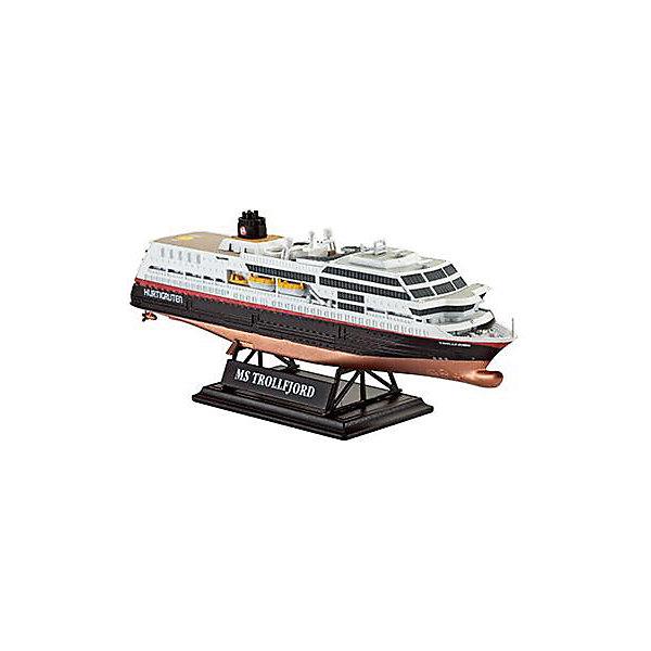 """Круизный лайнер Трафальгар (маршрут Хуртигрутен), норвежскийМодели для склеивания<br>Модель круизного судна """"MS Trollfjord"""". Корабль, плавающий под норвежским флагом, курсирует между городами Берген и Киркенес. Палубы лайнера способны вместить до 823 пассажиров и 45 автомобилей. <br>Масштаб: 1:1200 <br>Количество деталей: 43 <br>Длина модели: 113 мм <br>Уровень сложности: 3 <br>Клей и краски в комплект не входят.<br><br>Ширина мм: 207<br>Глубина мм: 132<br>Высота мм: 34<br>Вес г: 90<br>Возраст от месяцев: 120<br>Возраст до месяцев: 2147483647<br>Пол: Мужской<br>Возраст: Детский<br>SKU: 7122326"""