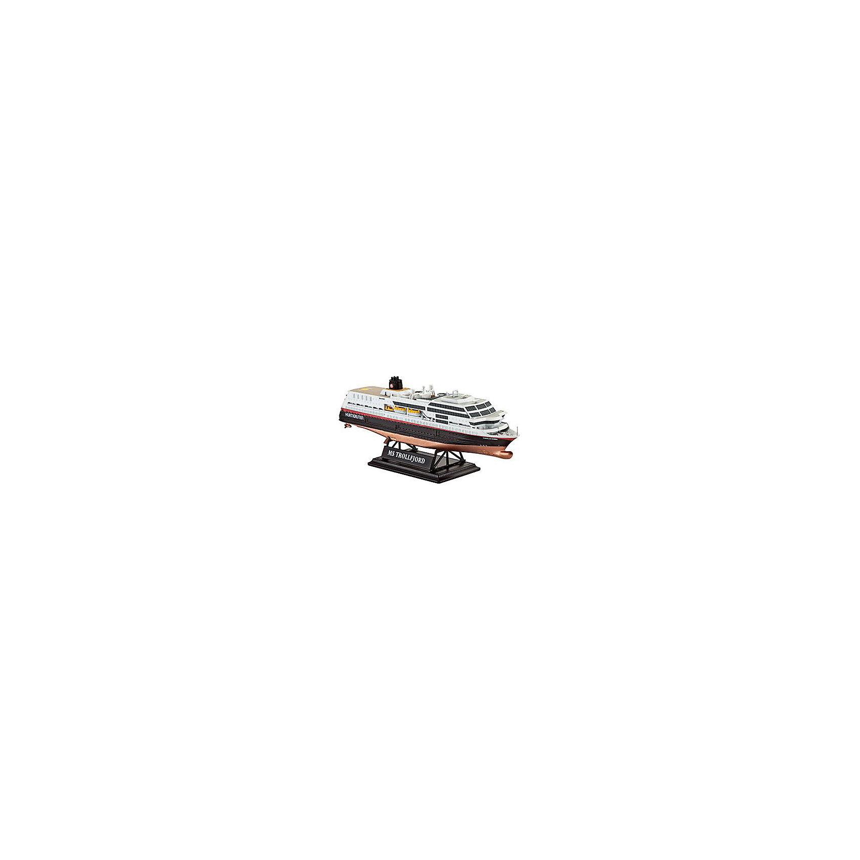 """Круизный лайнер Трафальгар (маршрут Хуртигрутен), норвежскийМодели для склеивания<br>Модель круизного судна """"MS Trollfjord"""". Корабль, плавающий под норвежским флагом, курсирует между городами Берген и Киркенес. Палубы лайнера способны вместить до 823 пассажиров и 45 автомобилей. <br>Масштаб: 1:1200 <br>Количество деталей: 43 <br>Длина модели: 113 мм <br>Уровень сложности: 3 <br>Клей и краски в комплект не входят.<br><br>Ширина мм: 9999<br>Глубина мм: 9999<br>Высота мм: 9999<br>Вес г: 9999<br>Возраст от месяцев: 120<br>Возраст до месяцев: 2147483647<br>Пол: Мужской<br>Возраст: Детский<br>SKU: 7122326"""