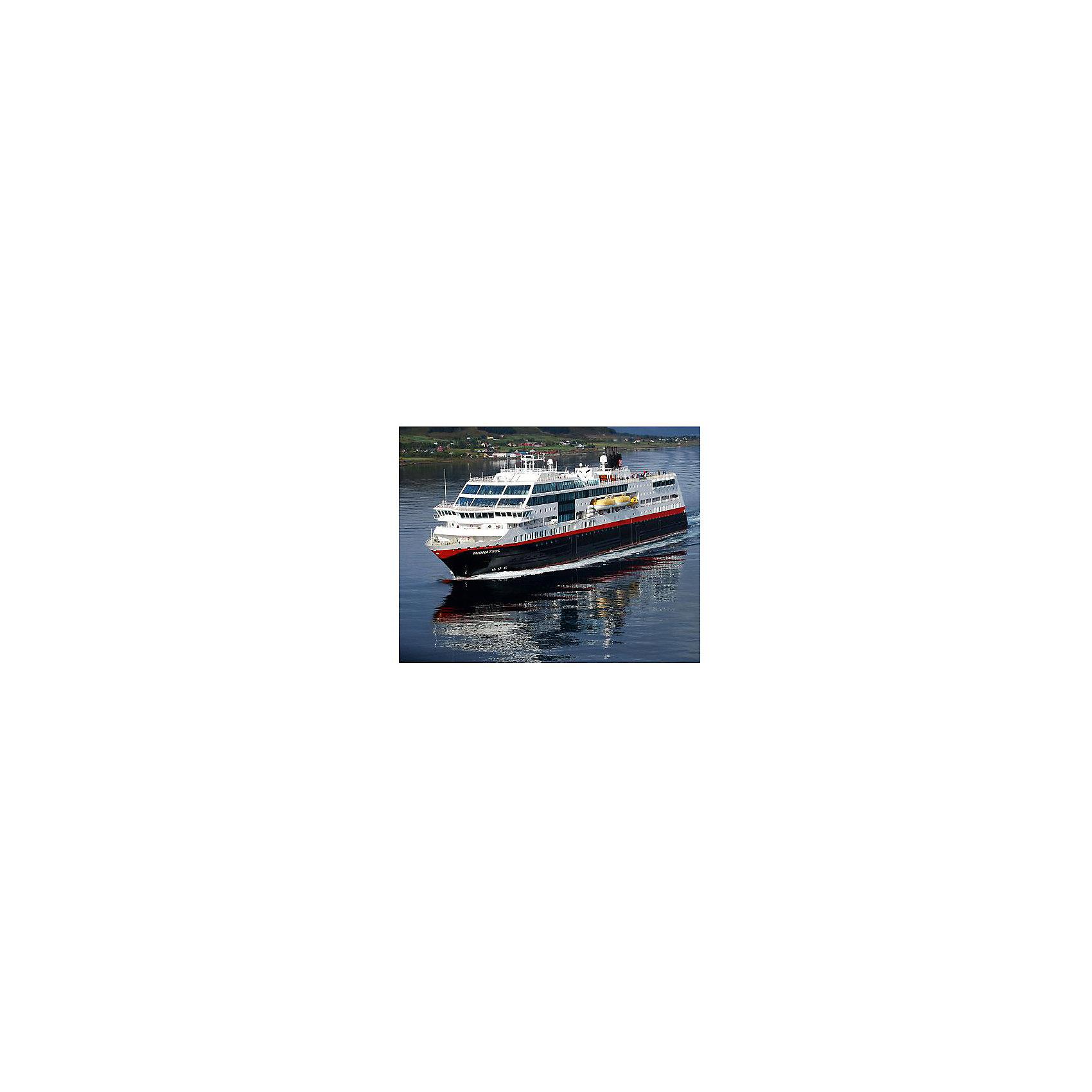 """Круизный лайнер Миднатсол (маршрут Хуртигрутен), норвежскийМодели для склеивания<br>Модель круизного судна """" Midnatsol"""". Корабль, плавающий под норвежским флагом, курсирует между городами Берген и Киркенес. Палубы лайнера способны вместить до 1000 пассажиров и 50 автомобилей. В любой момент судно может быть переделано в плавучий госпиталь, рассчитанный на 200 пациентов. <br>Масштаб: 1:1200 <br>Количество деталей: 42 <br>Длина модели: 113 мм <br>Уровень сложности: 3 <br>Клей и краски в комплект не входят.<br><br>Ширина мм: 9999<br>Глубина мм: 9999<br>Высота мм: 9999<br>Вес г: 9999<br>Возраст от месяцев: 120<br>Возраст до месяцев: 2147483647<br>Пол: Мужской<br>Возраст: Детский<br>SKU: 7122327"""