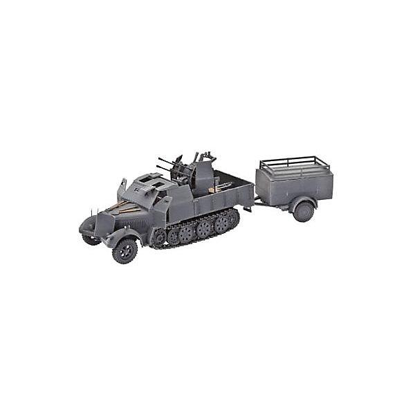 Полугусеничный тягач Sd Kfz 7/1Военная техника и панорама<br>Сборная модель немецкого полугусеничного тягача времен Sd.Kfz. 7/1 Второй Мировой войны. Эти 8-тонные машины использовались в основном для перевозки пехоты Вермахта и транспортировки тяжелых орудий. Тягач мог перевозить 12 человек со скоростью до 50 км/ч. Модификация Sd.Kfz. 7/1 отличалась от обычной версии тягача лафетом, на который были установлены два зенитных орудия 38 мм. Кроме того на кабину было установлено дополнительное бронирование. <br>Масштаб: 1:72 <br>Количество деталей: 156 <br>Длина модели: 150 мм <br>Уровень сложности: 4 <br>ВНИМАНИЕ: Клей и краски в комплект не входят.<br>Ширина мм: 243; Глубина мм: 158; Высота мм: 36; Вес г: 180; Возраст от месяцев: 120; Возраст до месяцев: 2147483647; Пол: Мужской; Возраст: Детский; SKU: 7122329;