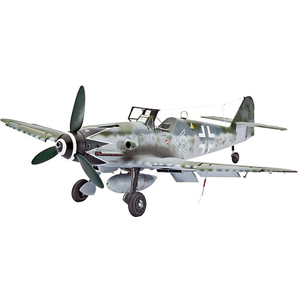 """Истребитель Messerschmitt Bf109 G-10 ErlaСамолеты и вертолеты<br>Messerschmitt Bf.109 – самый известный и самый массовый немецкий истребитель Второй Мировой. За годы войны промышленность Германии произвела 33 984 самолетов данной модели. По показателю массовости """"Мессер"""" проигрывает только советскому штурмовику Ил-2. Впервые Bf.109 был использован пилотами легиона """"Кондор"""" во время гражданской войны в Испании <br><br>В ходе Второй мировой """"Мессер"""" широко применялся на всех театрах военных действий. В том числе и на Восточном фронте. Советские пилоты с уважением относились к этой машине и признавали в ней самого опасного воздушного противника. Стоит отметить, что самый результативный летчик Второй мировой немецкий ас Эрих Хартманн пилотировал именно Messerschmitt Bf.109. G-10 стала самой массовой модификацией """"Мессера"""". Изменения в модели коснулись двигателя и вооружения. Так пулеметы калибра 7,62 были заменены на 13-мм, а мощность двигателя увеличилась на 175 лошадиных сил <br><br>Масштаб: 1:32 <br>Количество деталей: 147 <br>Длина: 284 мм <br>Размах крыльев: 310 мм<br>Ширина мм: 386; Глубина мм: 248; Высота мм: 67; Вес г: 510; Возраст от месяцев: 156; Возраст до месяцев: 2147483647; Пол: Мужской; Возраст: Детский; SKU: 7122332;"""