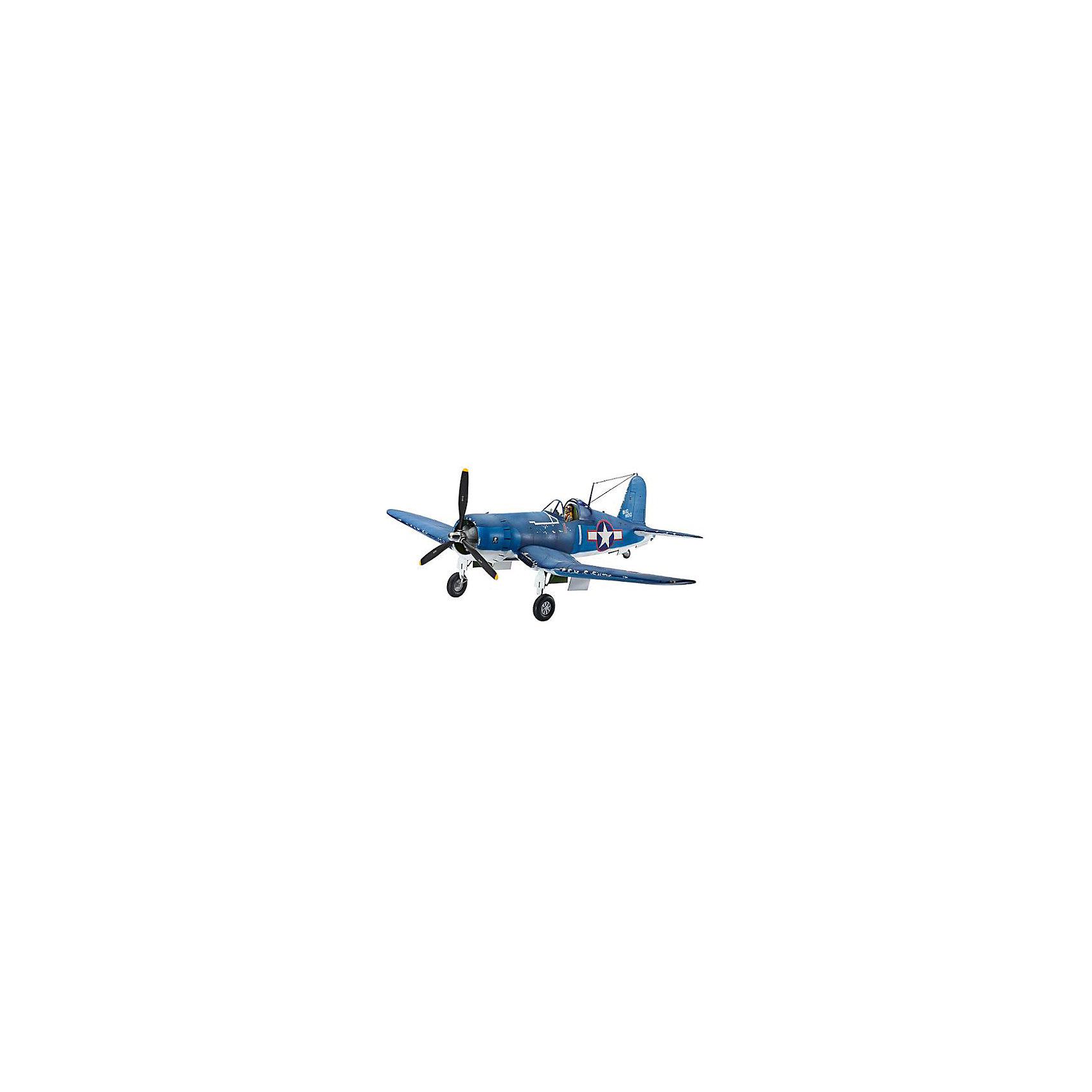 Истребитель-бомбардировщик Vought F4U-1D CorsairМодели для склеивания<br>F4U «Корсар» — палубный одноместный истребитель времён Второй мировой войны. Строился и спроектирован фирмой Чанс-Воут. Военно-морские силы США в 1938 году провели конкурс на разработку палубного истребителя, победа в котором досталась фирме Чанс-Воут. В итоге сконструировали сильно изогнутое складывающееся крыло типа обратная чайка, основные стойки убирающегося шасси были расположены в месте излома крыла. На самолете модели Корсар впервые в авиастроении использована точечная электросварка. 3 июня 1941 года ВМС подписали с фирмой контракт на поставку 580 самолётов этого типа. <br>Масштаб: 1:32 <br>Количество деталей: 68 <br>Длина модели: 321 мм <br>Размах крыльев: 388 мм <br>Подойдет для детей старше 10-и лет <br>ВНИМАНИЕ: Клей, краски и кисточки приобретаются отдельно.<br><br>Ширина мм: 9999<br>Глубина мм: 9999<br>Высота мм: 9999<br>Вес г: 9999<br>Возраст от месяцев: 120<br>Возраст до месяцев: 2147483647<br>Пол: Мужской<br>Возраст: Детский<br>SKU: 7122333