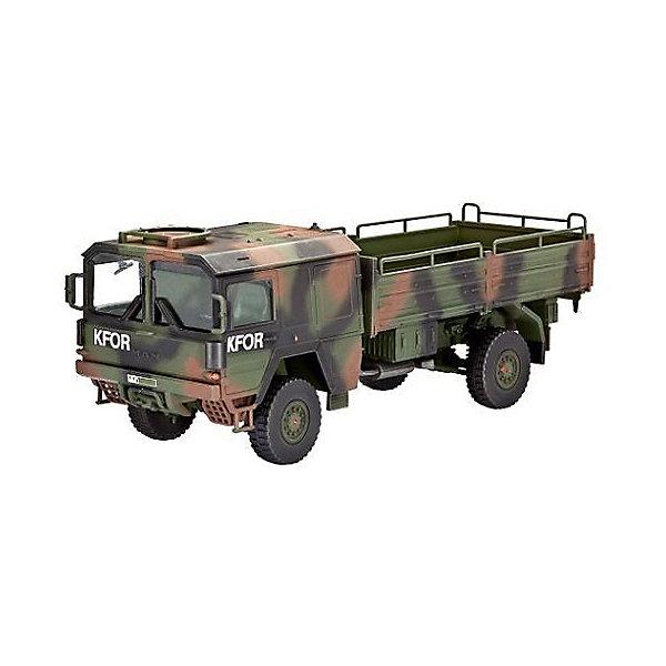 Немецкий грузовик 5t. mil glВоенная техника и панорама<br>Сборная модель современного армейского грузовика, состоящего на вооружении немецкой армии. Двигатель V8 мощностью 256 л.с. позволяет развивать автомобилю скорость до 90 км/ч. А подвеска 4x4 помогает преодолевать любое бездорожье. <br>Масштаб: 1:72 <br>Количество деталей: 110 <br>Длина модели: 111 мм <br>Подойдет для детей старше 10-и лет <br>Клей и краски в комплект не входят.<br><br>Ширина мм: 311<br>Глубина мм: 183<br>Высота мм: 46<br>Вес г: 210<br>Возраст от месяцев: 156<br>Возраст до месяцев: 2147483647<br>Пол: Мужской<br>Возраст: Детский<br>SKU: 7122334