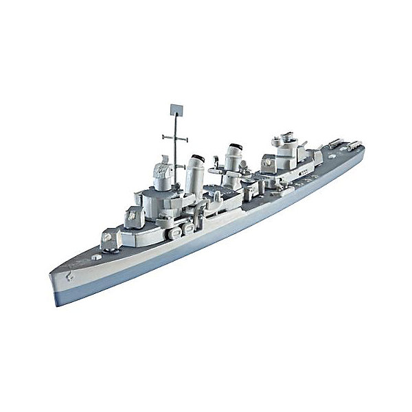 Корабль Эсминец U.S.S. Fletcher (DD-445)Корабли и подводные лодки<br>При строительстве новых линкоров и авианосцев появилась потребность и в более современных эсминцах, способных развивать скорость до 38 узлов. Строительные контракты на 100 эсминцев класса Флетчер появились в конце 1940 года. После вступления в войну в декабре 1941 ВМС США заказал еще  75 экземпляров. <br><br>Во время Второй мировой войны Флетчер оказалась наиболее успешныv эсминцем ВМС США, благодаря своим мощным двигательным установкам и современному радиолокационному оборудованию <br><br>Масштаб: 1:700 <br>Количество деталей: 70 <br>Длина модели: 164 мм <br>Уровень сложности: 3 <br>ВНИМАНИЕ: Клей и краски в комплект не входят.<br>Ширина мм: 207; Глубина мм: 132; Высота мм: 34; Вес г: 90; Возраст от месяцев: 120; Возраст до месяцев: 2147483647; Пол: Мужской; Возраст: Детский; SKU: 7122336;