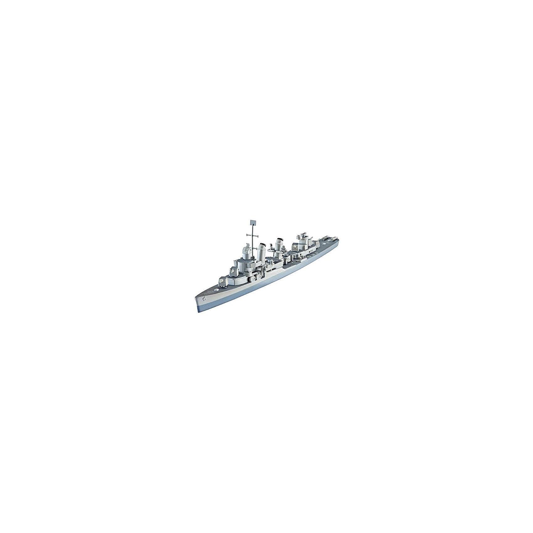 Корабль Эсминец U.S.S. Fletcher (DD-445)Модели для склеивания<br>При строительстве новых линкоров и авианосцев появилась потребность и в более современных эсминцах, способных развивать скорость до 38 узлов. Строительные контракты на 100 эсминцев класса Флетчер появились в конце 1940 года. После вступления в войну в декабре 1941 ВМС США заказал еще  75 экземпляров. <br><br>Во время Второй мировой войны Флетчер оказалась наиболее успешныv эсминцем ВМС США, благодаря своим мощным двигательным установкам и современному радиолокационному оборудованию <br><br>Масштаб: 1:700 <br>Количество деталей: 70 <br>Длина модели: 164 мм <br>Уровень сложности: 3 <br>ВНИМАНИЕ: Клей и краски в комплект не входят.<br><br>Ширина мм: 207<br>Глубина мм: 132<br>Высота мм: 34<br>Вес г: 90<br>Возраст от месяцев: 120<br>Возраст до месяцев: 2147483647<br>Пол: Мужской<br>Возраст: Детский<br>SKU: 7122336