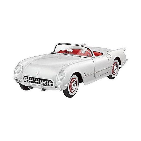 Автомобиль 53 Corvette RoadsterМодели для склеивания<br>Сборная модель 53 Corvette Roadster выполнена в традиционном для автомобилей масштабе 1:24. Прототип данной модели был создан в начале 50-х годов 20 века. Тогдашний ведущий дизайнер компании General Motors решил создать новый спорткар, который сможет конкурировать с аналогичными автомобилями из Европы. Результат работы американского концерна был показан на выставке в 1953 году. Автомобиль сразу пришелся по душе публике, поэтому серийное производство началось в конце того же года.  <br>53 Corvette Roadster от Revell может похвастаться: <br>-аутентичным шестицилиндровым двигателем; <br>-открывающимся капотом; <br>-проработанным интерьером с копией приборной панели; <br>-кузовом, с проработкой мелких деталей: <br>Модель выполнена из пластика, поэтому для ее сборки вам потребуется специальный клей. Для покраски рекомендуется использовать акриловые или эмалевые краски Revell. Хромированные детали, которые присутствуют в наборе, рекомендуется зачищать от краски в местах склеивания. Прозрачные пластиковые детали рекомендуется клеить специальным клеем Contacta Clear.  <br>Внимание! Все вышеперечисленные расходные материалы не входят в набор и приобретаются отдельно. <br>Сборные модели от компании Revell помогут ребенку развить у ребенка творческие способности, аккуратность, усидчивость и мелкую моторику рук.  <br><br>Количество деталей: 91 <br>Длина модели: 177 мм <br>Уровень сложности: 4<br><br>Ширина мм: 351<br>Глубина мм: 212<br>Высота мм: 66<br>Вес г: 390<br>Возраст от месяцев: 120<br>Возраст до месяцев: 2147483647<br>Пол: Мужской<br>Возраст: Детский<br>SKU: 7122337