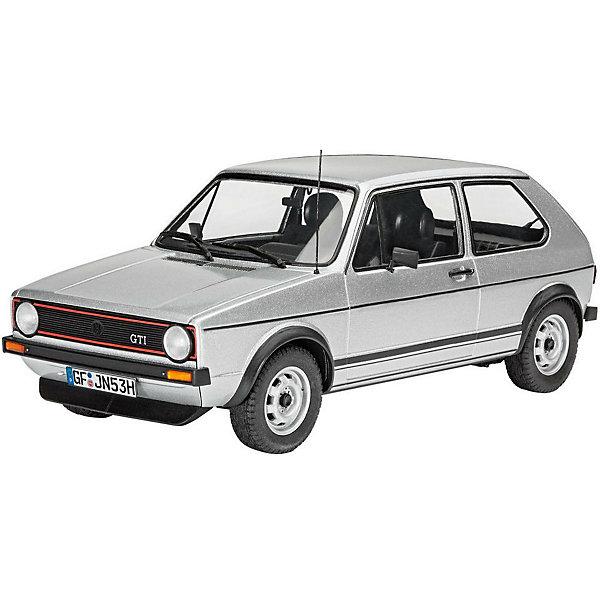 Автомобиль VW Golf 1 GTIАвтомобили<br>Сборная модель автомобиля VW Golf 1 GTI в масштабе 1:24. Прототип данной модели имеет интересную историю. Представленный публике в 1975 году на автосалоне VW Golf 1 GTI стал сюрпризом не только для публики, но и для совета директоров Volkswagen.  Машина создавалась без ведома руководителей компании. Несмотря ни на что, этот спортивный вариант классического Golf 1 стал первым спортивным автомобилем доступным всем слоям населения. Доступная цена, двигатель 110 л.с., широкие колеса и характерный передний спойлер сделали этот автомобиль по-настоящему культовым.  <br>Модель выполнена из пластика, поэтому для ее сборки вам потребуется специальный клей. Для покраски рекомендуется использовать акриловые или эмалевые краски Revell. Прозрачные пластиковые детали рекомендуется клеить специальным клеем Contacta Clear.  <br>Внимание! Все вышеперечисленные расходные материалы не входят в набор и приобретаются отдельно. <br>Сборные модели от компании Revell помогут ребенку развить у ребенка творческие способности, аккуратность, усидчивость и мелкую моторику рук.  <br>Масштаб модели: 1:24 <br>Количество деталей: 121 <br>Длина модели: 154 мм <br>Рекомендуется для детей от 10 лет.<br>Ширина мм: 351; Глубина мм: 66; Высота мм: 212; Вес г: 480; Возраст от месяцев: 144; Возраст до месяцев: 2147483647; Пол: Мужской; Возраст: Детский; SKU: 7122340;