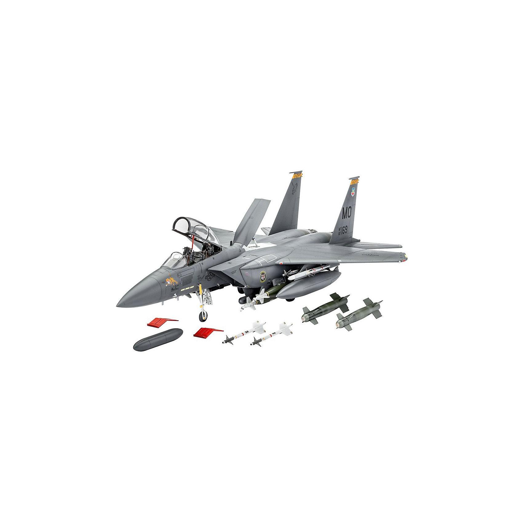 Истребитель F-15E Strike EagleМодели для склеивания<br>Набор, позволяющий самостоятельно сконструировать истребитель F-15E Strike Eagle, американский двухместный бомбардировщик. Это уникальная модель самолета, который совершил свой первый полет в 1986 году и получил известность в качестве участника вооруженных конфликтов.  <br><br>Набор от Revell понравится любителям истории, коллекционерам, юным пилотам и любителям собирать фигурки, тренируя мелкую моторику, логические навыки, аккуратность и сообразительность. Вы можете поиграть с готовой моделью самолета и устроить воздушную баталию прямо в своем доме! Готовый разукрашенный самолет также займет достойное место в вашей коллекции и будет солидно и выгодно смотреться среди других моделей на полке.  <br><br>В подарочной упаковке вы найдете 224 детали, сделанные из материалов, прошедших строгий контроль качества. Клей и краски приобретаются отдельно.  <br><br>Размах крыльев: 26,7 см.  <br><br>Длина: 39,4 см.<br><br>Ширина мм: 9999<br>Глубина мм: 9999<br>Высота мм: 9999<br>Вес г: 9999<br>Возраст от месяцев: 144<br>Возраст до месяцев: 2147483647<br>Пол: Мужской<br>Возраст: Детский<br>SKU: 7122341