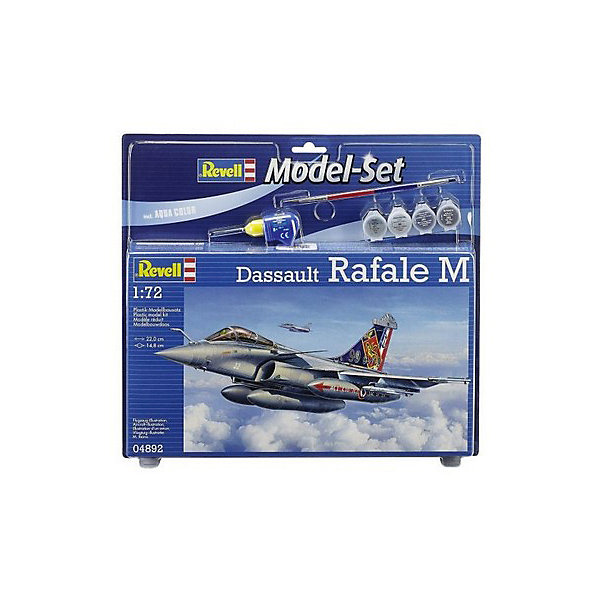 Набор Истребитель Dassault Rafale MСамолеты и вертолеты<br>Истребитель Dassault Rafale M – высокотехнологичная морская версия разведывательного самолёта нового поколения. Он способен исполнять роль, как перехватчика, так и роль самолёта-разведчика, а также истребителя-бомбардировщика.   Прекрасно детализированная сборная модель уникального истребителя Dassault Rafale M представляет собой абсолютно точную уменьшенную копию своего прототипа в масштабе 1:72. Кабина пилота выполнена в мельчайших подробностях. Фактурные поверхности деталей самолёта, детализированные шасси, пилоны для внешних нагрузок, два дополнительных бака, а также две самонаводящиеся ракеты позволяют поверить, что перед вами оригинальный Раффаэль М! Всего модель состоит из 73 отдельных компонентов, которые необходимо собрать, склеить и покрыть краской в соответствии с инструкцией, которая прилагается в комплекте. В наборе также есть клей в удобной упаковке, специальные краски и кисточка для создания неповторимого дизайна истребителя. Длина готовой модели составляет 220 мм, а размах крыльев – 148 мм.   Разработанная для детей от 10 лет, превосходно выполненная сборная модель французского многофункционального истребителя Dassault Rafale M определённо порадует и взрослых любителей моделирования, а также коллекционеров военной техники разных стран. Моделирование относят к одному из наиболее полезных хобби, ведь оно отлично тренирует мелкую моторику, развивает такие навыки как усидчивость, аккуратность и внимательность. Кроме того, развивается пространственное мышление, логика и креативность.<br><br>Ширина мм: 370<br>Глубина мм: 45<br>Высота мм: 340<br>Вес г: 470<br>Возраст от месяцев: 132<br>Возраст до месяцев: 2147483647<br>Пол: Мужской<br>Возраст: Детский<br>SKU: 7122346