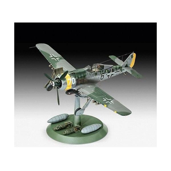 Самолет Фокке-Вульф FW-190 F-8Самолеты и вертолеты<br>Сборная модель немецкого самолета времен Второй мировой войны Фокке-Вульф FW-190 F-8. Она выполнена из пластика в масштабе 1 к 32. Для сборки и покраски вам понадобится клей и краска. Рекомендуется использовать клей для пластика Ревелл, а также акриловые или эмалевые краски. <br>Модификация F-8 представляет собой версию штурмовика одноместного немецкого самолета Focke-Wulf FW-190. По сравнению со своими предшественниками машина несла более мощное вооружение и имела улучшенное бронирование двигателя и кабины. Также у самолета были монтированы бомбодержатели и он мог нести дополнительные топливные баки. <br>Длина собранной модели: 28,2 см <br>Размах крыла: 32,7 см <br>Количество деталей: 230 <br>Рекомендуется для детей от 12 лет. <br>Декали для версий: <br> - Fw 190 F-8/R1, black 6 , St.SG.10, 1945 <br>- Fw 190 F-8, black 2 , St.SG.10,  1945<br>Ширина мм: 437; Глубина мм: 112; Высота мм: 248; Вес г: 940; Возраст от месяцев: 144; Возраст до месяцев: 2147483647; Пол: Мужской; Возраст: Детский; SKU: 7122348;