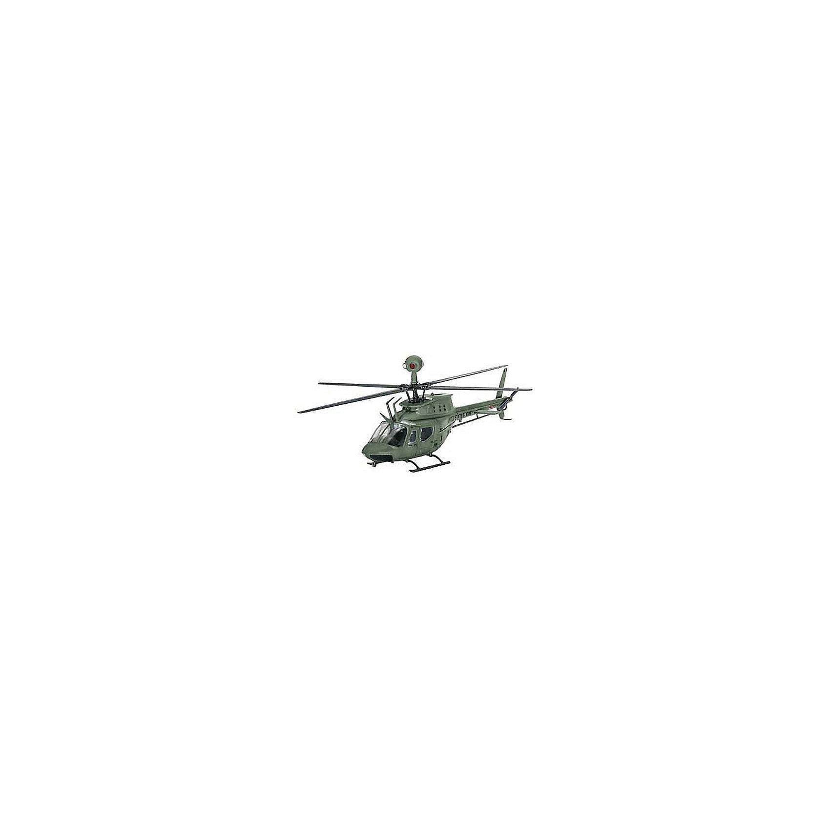 Вертолет Bell OH-58D KiowaМодели для склеивания<br>ОН-58 является военной версией гражданского вертолета Bell® 206 Jet Ranger.Первая из этих машин была доставлены в армию США в начале 1969 года Многочисленные усовершенствования конструкций привели к появлению версии  ОН-58D, который была впервые поставлена в 1985 г. Вертолет обзавелся четырьмя лопастями, более мощным двигателем, а также улучшенными средствами навигации и связи.  <br><br>Сборная модель вертолета Bell OH-58D Kiowa выполнена из пластика в масштабе 1/72. Для сборки вам потребуется клей. Рекомендуется использовать клей Revell для пластика. Для последующей покраски модели вам понадобятся краски - эмалевые или акриловые. Вы их можете приобрести в нашем магазине. <br><br>Внимание! Все расходные материалы в этот набор не входят. Они приобретаются отдельно! <br><br>Масштаб 1:72 <br>Количество деталей 43 <br>Длина модели в собранной виде 13,9 см<br><br>Ширина мм: 9999<br>Глубина мм: 9999<br>Высота мм: 9999<br>Вес г: 9999<br>Возраст от месяцев: 120<br>Возраст до месяцев: 2147483647<br>Пол: Мужской<br>Возраст: Детский<br>SKU: 7122350
