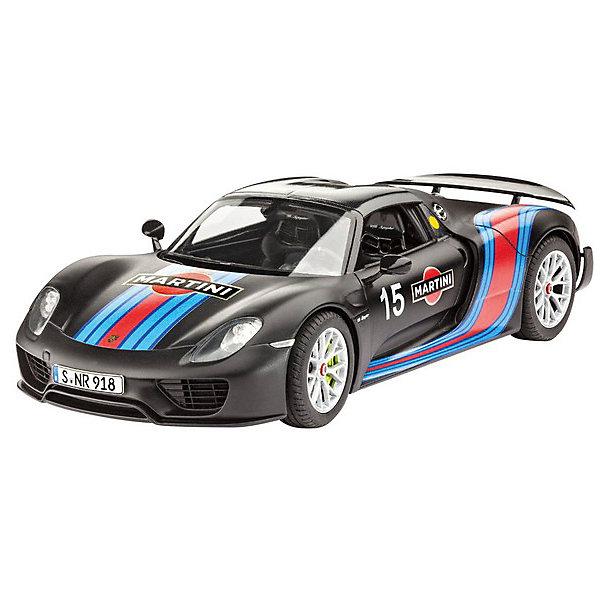 Автомобиль Porsche 918 Spyder Weissach Sport VersionАвтомобили<br>Компания Revell предлагает любителям быстрой езды спортивную модель автомобиля Porsche 918 Spyder. Это яркая и красивая машина, мимо которой нельзя просто пройти! Модель поражает своей реалистичностью и огромным сходством с оригиналом. Подвеска, электродвигатель и салон точь в точь напоминают своего большого родственника.  <br><br>Размер машины равен 19,4 см. Что еще сильнее удивляет! Как в такой малютке смогли совместить все подробности строения оригинала?! Количество частей, из которых состоит модель — 120.  <br><br>В комплекте декали на спортивный вариант Porsche 918 Spyder Weissach Sport Version <br><br>Рекомендованный возраст  — 10 лет и выше.<br><br>Ширина мм: 351<br>Глубина мм: 66<br>Высота мм: 212<br>Вес г: 480<br>Возраст от месяцев: 120<br>Возраст до месяцев: 2147483647<br>Пол: Мужской<br>Возраст: Детский<br>SKU: 7122353