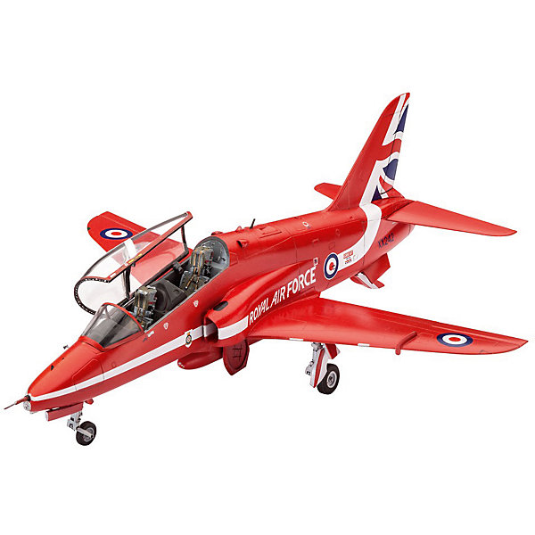 """Легкий штурмовик Hawk T1 Red ArrowsМодели для склеивания<br>Сборная модель  самолета Hawk T1 Red Arrows. Легкий штурмовик в цветах британской пилотажной группы """"Красные стрелы"""". Подразделение было образовано в 1965 году. А в конце 1979 пилотами """"Красных стрел"""" впервые были использованы самолеты Hawk T1. На этих машинах группа летает до сих пор. <br>Масштаб модели 1:72. В наборе 70 деталей для сборки самолета. В том числе элементы из прозрачного пластика. Длина модели 16,1 сантиметров. Размах крыльев 13 сантиметров. <br>Декаль для версии самолета: <br>BAe Systems Hawk T.1, Royal Air Force Aerobatic Team, The Red Arrows , RAF Scampton, England, март 2015 года. <br>Модель рекомендуется для взрослых и детей от 10 лет. <br>Внимание! Расходные материалы (клей и краска) приобретаются отдельно.<br><br>Ширина мм: 243<br>Глубина мм: 158<br>Высота мм: 36<br>Вес г: 191<br>Возраст от месяцев: 120<br>Возраст до месяцев: 2147483647<br>Пол: Мужской<br>Возраст: Детский<br>SKU: 7122354"""