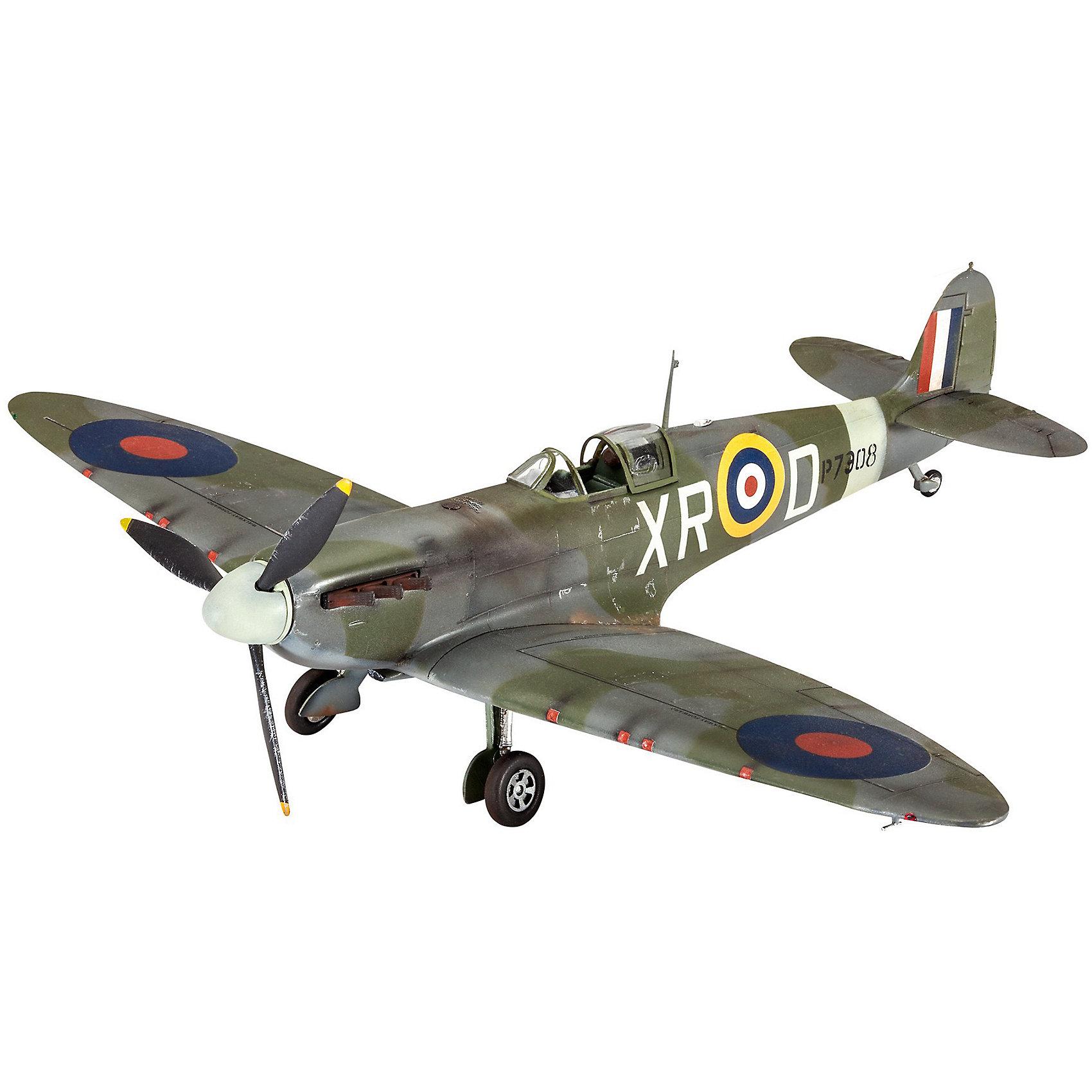 Сборная модель Истребитель Spitfire Mk.II  1/48Модели для склеивания<br>Сборная модель британского истребителя Supermarine Spitfire Mk.II. Самолет активно применялся во время Второй Мировой войны. <br>Все детали модели изготовлены из пластика. Их необходимо склеить. Для этого рекомендуется использовать специальный клей для пластика. После сбора модель необходимо будет покрасить. Для этого лучше использовать акриловые или эмалевые краски Revell. Все расходные материалы приобретаются отдельно. В данный набор они не входят! <br>В наборе присутствует декаль (переводные наклейки) для создания модели самолета из эскадрильи 71 Eagle Squadron в августе 1941 года. <br>Масштаб модели: 1/48 <br>Длина модели в собранном виде: 18,8 см  <br>Размах крыльев:  22,5 см  <br>Количество деталей: 34  <br>Модель рекомендуется для детей и взрослых в возрасте от 10 лет.<br><br>Ширина мм: 9999<br>Глубина мм: 9999<br>Высота мм: 9999<br>Вес г: 9999<br>Возраст от месяцев: 120<br>Возраст до месяцев: 2147483647<br>Пол: Мужской<br>Возраст: Детский<br>SKU: 7122355