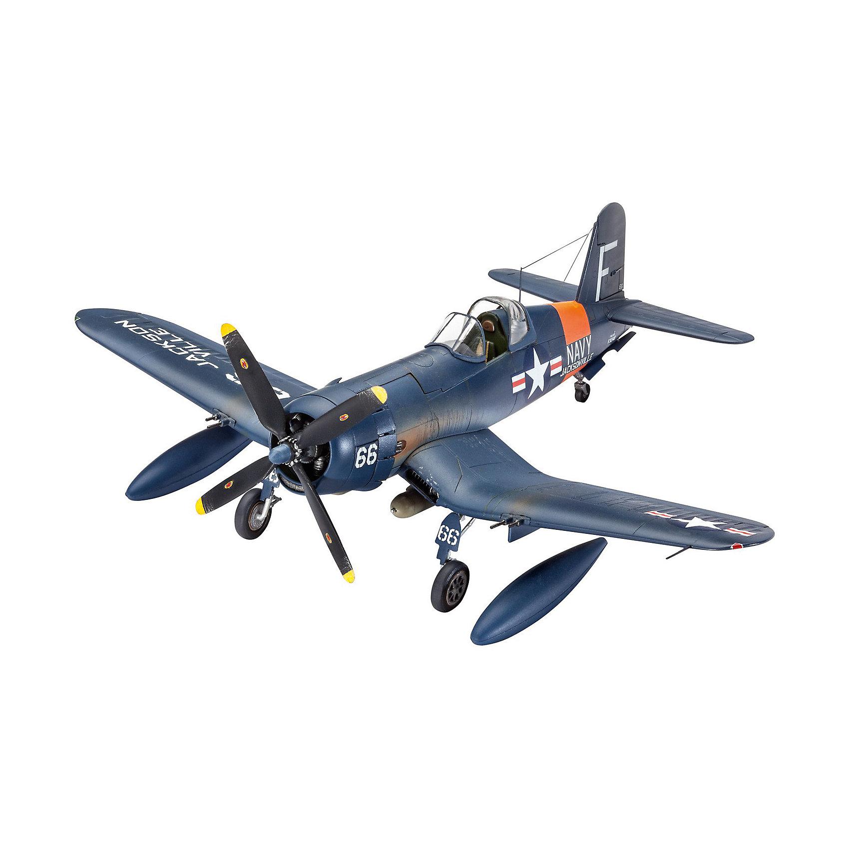 Сборная модель Истребитель F4U Corsair 1:72Модели для склеивания<br>Сборная модель самолета F4U Corsair, 1:72. Прототип модели - палубный истребитель, принимавший участие во всех крупных операциях на Тихом океане во время Второй мировой войны. Масштаб 1:72.  <br>После и даже во время поклейки, модель можно раскрасить, чтобы она выглядела максимально реалистично.  Производитель предлагает окрасить модель в темно-синий цвет. Также в комплекте вы найдете различные наклейки для украшения.   <br>Длина модели 14,8 см. Размах крыльев 17,3 см. Количество деталей – 65. Модель выполнена из качественной пластмассы. Уровень сложности выполнения модели – 3. Краски и кисточка для раскрашивания модели, клей приобретаются отдельно.<br><br>Ширина мм: 9999<br>Глубина мм: 9999<br>Высота мм: 9999<br>Вес г: 9999<br>Возраст от месяцев: 120<br>Возраст до месяцев: 2147483647<br>Пол: Мужской<br>Возраст: Детский<br>SKU: 7122357