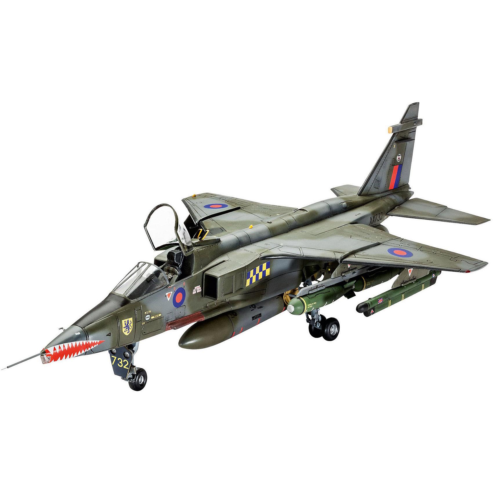 Истребитель-бомбардировщик Sepecat JAGUAR GR.1A ВВС ВеликобританииМодели для склеивания<br>Сборная модель штурмовика SEPECAT Jaguar GR., состоявшего на вооружении ВВС Великобритании. Самолет использовался британскими пилотами с 1973 вплоть до 2007 года <br>Детали самолета изготовлены из пластика. Их необходимо самостоятельно собрать. Для этого рекомендуется использовать клей для пластика. После этого модель необходимо будет покрасить. Для этой цели лучше использовать акриловую или эмалевую краску Ревелл. Все расходные материалы и инструменты приобретаются отдельно. В набор они не входят. <br>Масштаб модели 1/48 <br>Длина модели в собранном виде: 35 сантиметров <br>Размах крыльев: 18 сантиметров  <br>Количество деталей: 128 <br>Декали для самолетов: <br>- SEPECAT Jaguar GR.1, No.54 Squadron, Royal Air Force, Coltishall, England, Mach 1979 <br>- SEPECAT Jaguar GR.1A, No.41 Squadron, Royal Air Force, Coltishall, England, September 1987 <br>Модель рекомендуется для взрослых и детей в возрасте от 13 лет<br><br>Ширина мм: 9999<br>Глубина мм: 9999<br>Высота мм: 9999<br>Вес г: 9999<br>Возраст от месяцев: 156<br>Возраст до месяцев: 2147483647<br>Пол: Мужской<br>Возраст: Детский<br>SKU: 7122358
